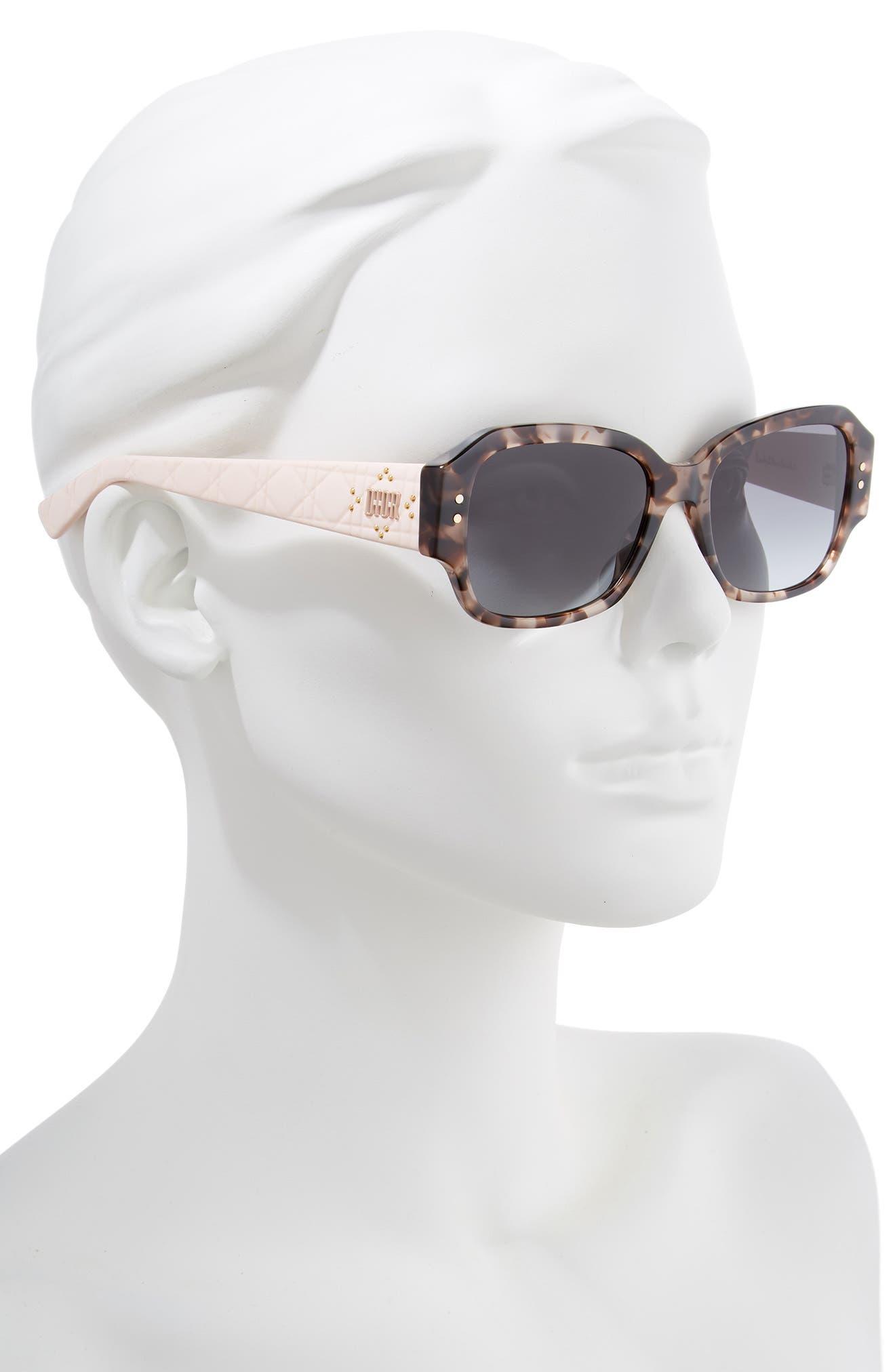 Ladydiorstuds5 54mm Sunglasses,                             Alternate thumbnail 2, color,                             HAVANA LIGHT PINK