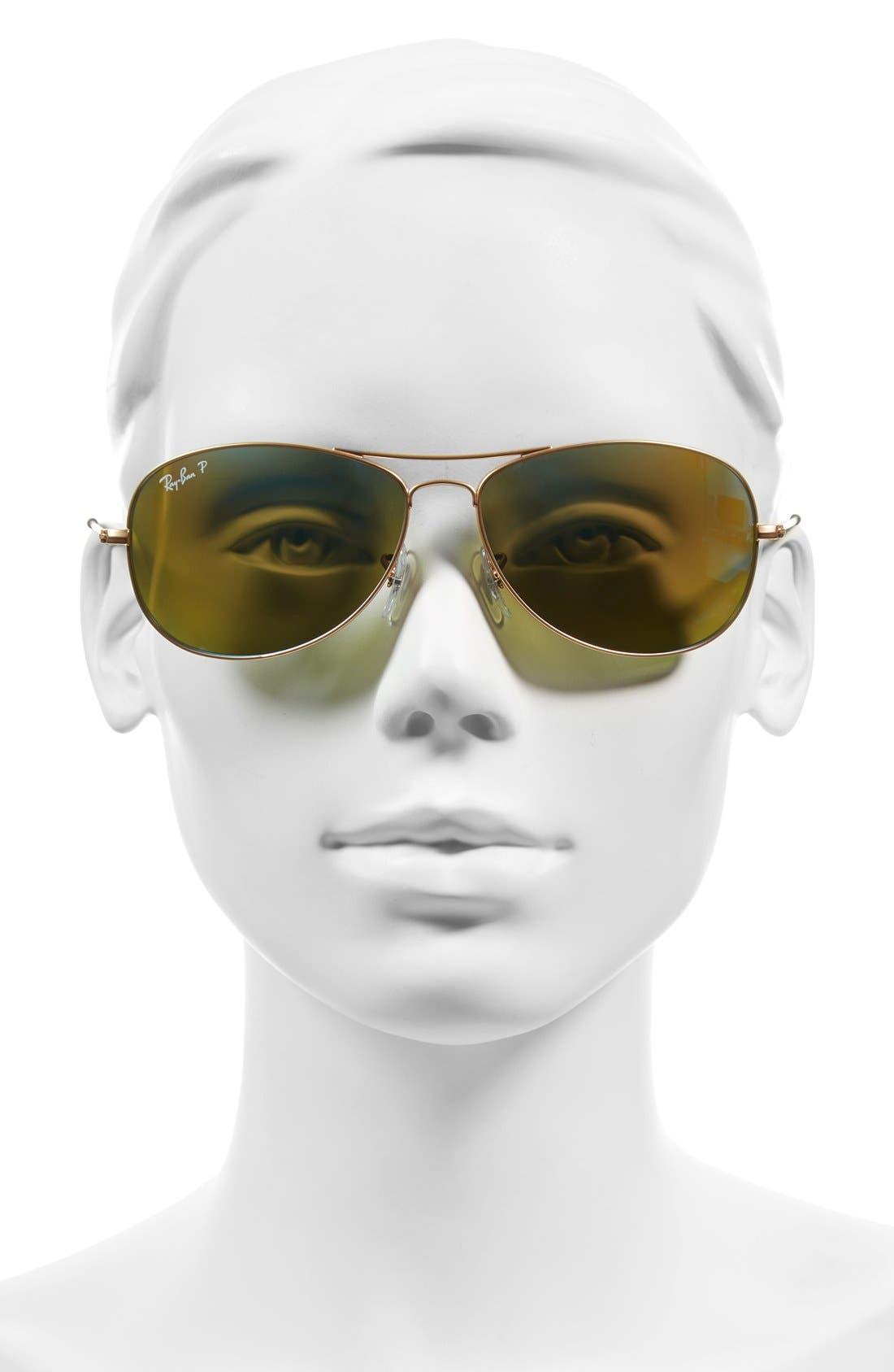 Tech 59mm Polarized Sunglasses,                             Alternate thumbnail 8, color,