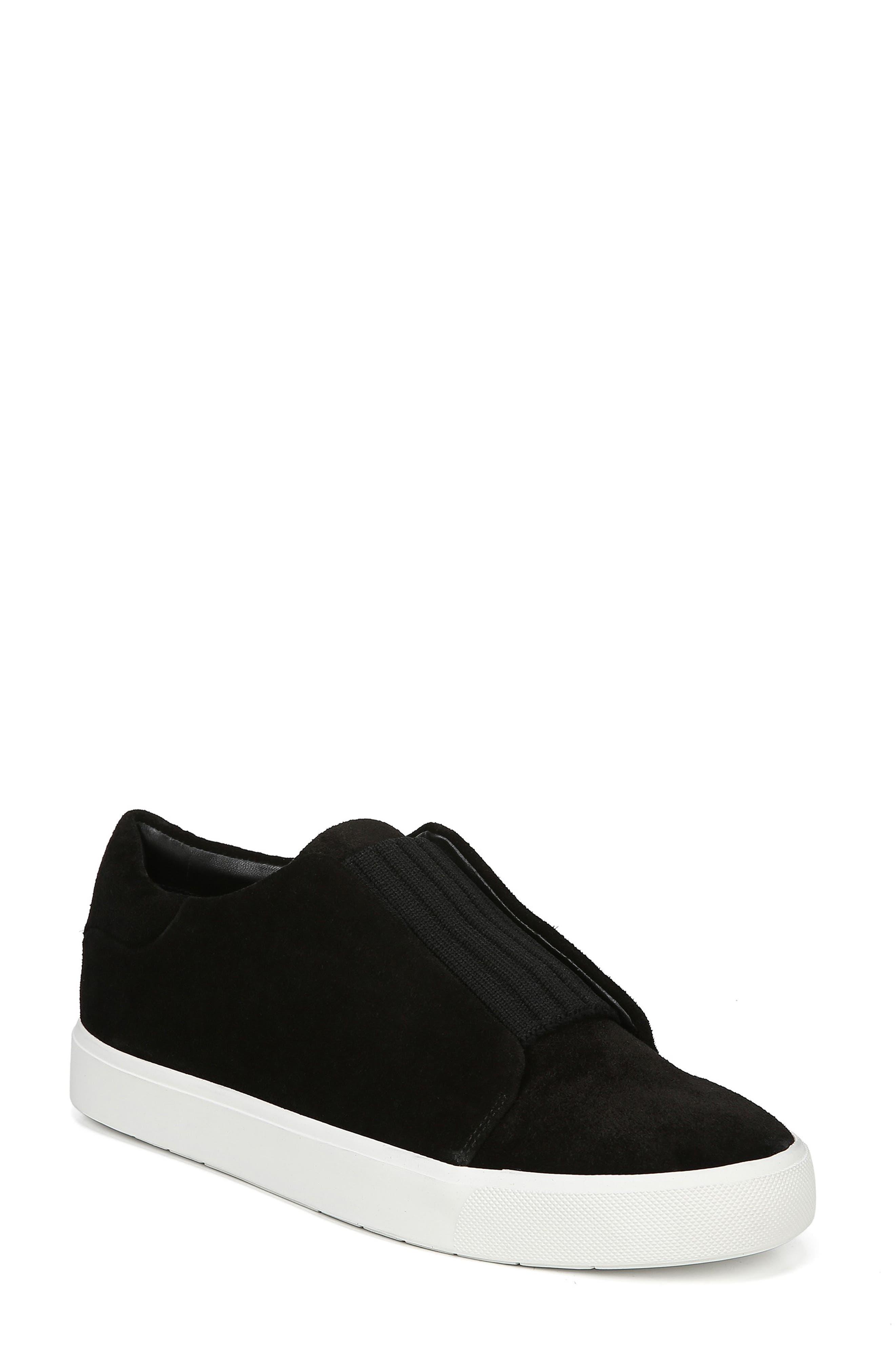 Cantara Slip-On Sneaker,                             Main thumbnail 1, color,                             BLACK SUEDE