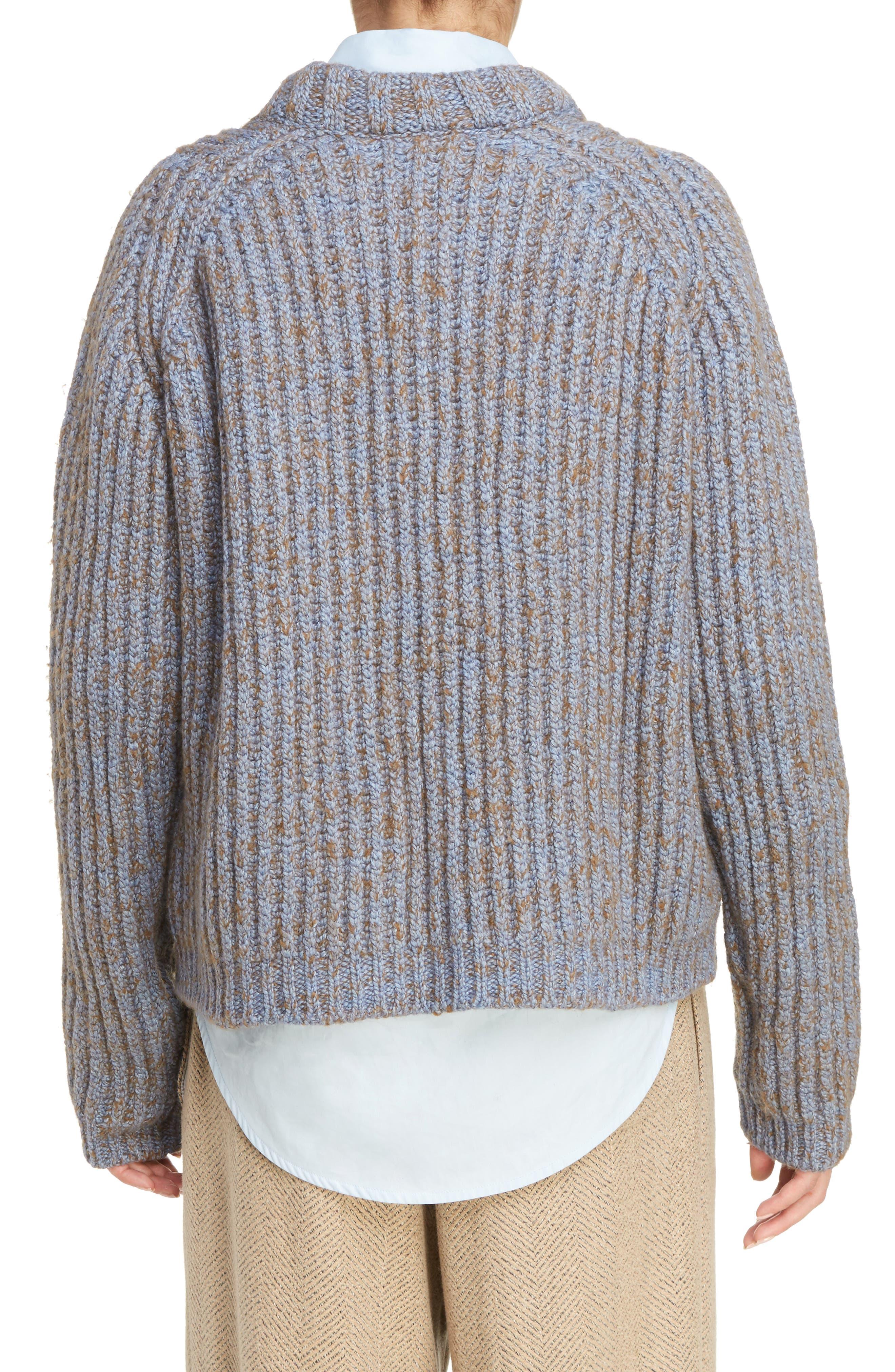 Sandy Mouline Cable Knit Sweater,                             Alternate thumbnail 2, color,                             400