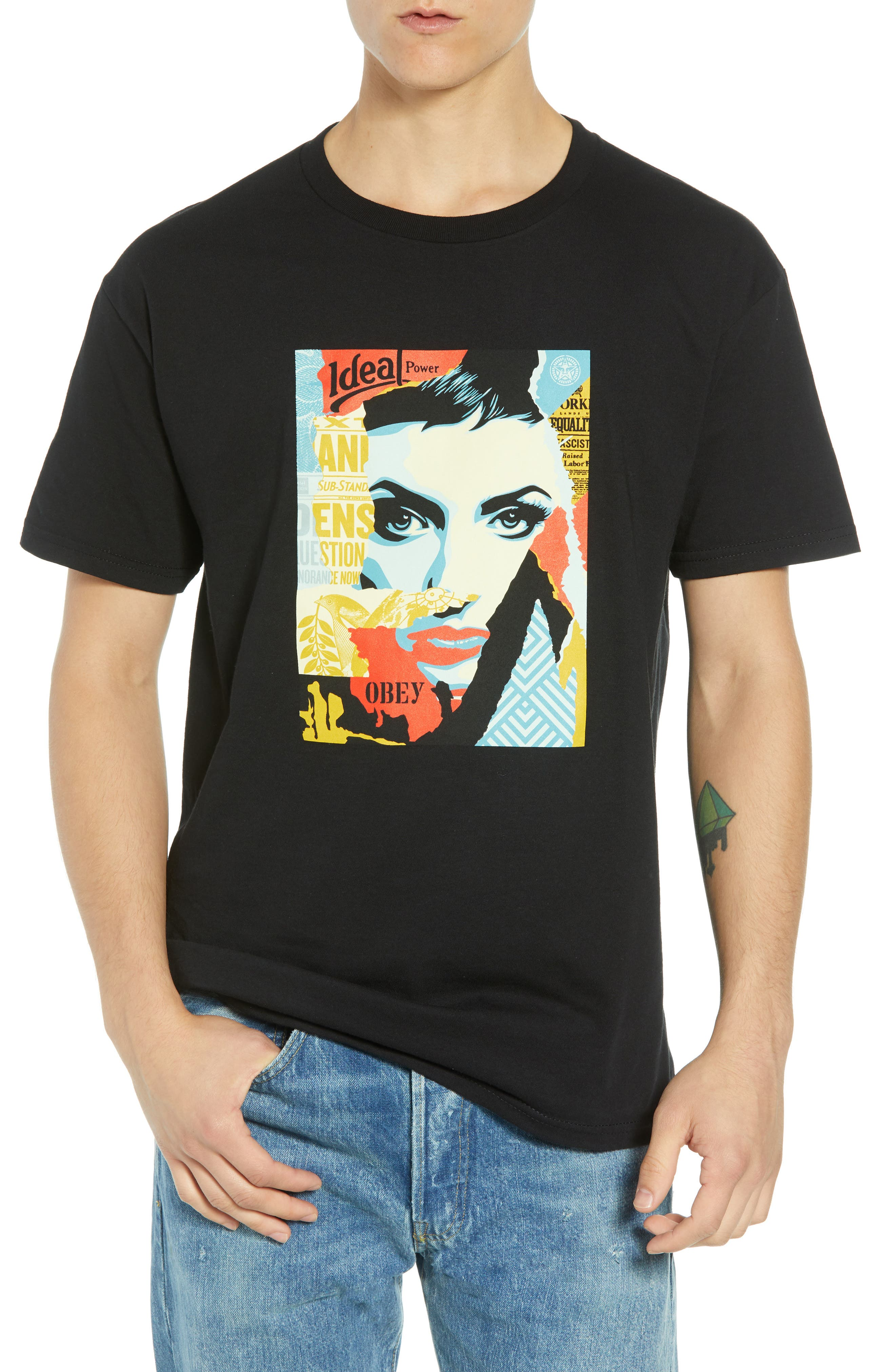 Ideal Power Premium T-Shirt,                         Main,                         color, BLACK