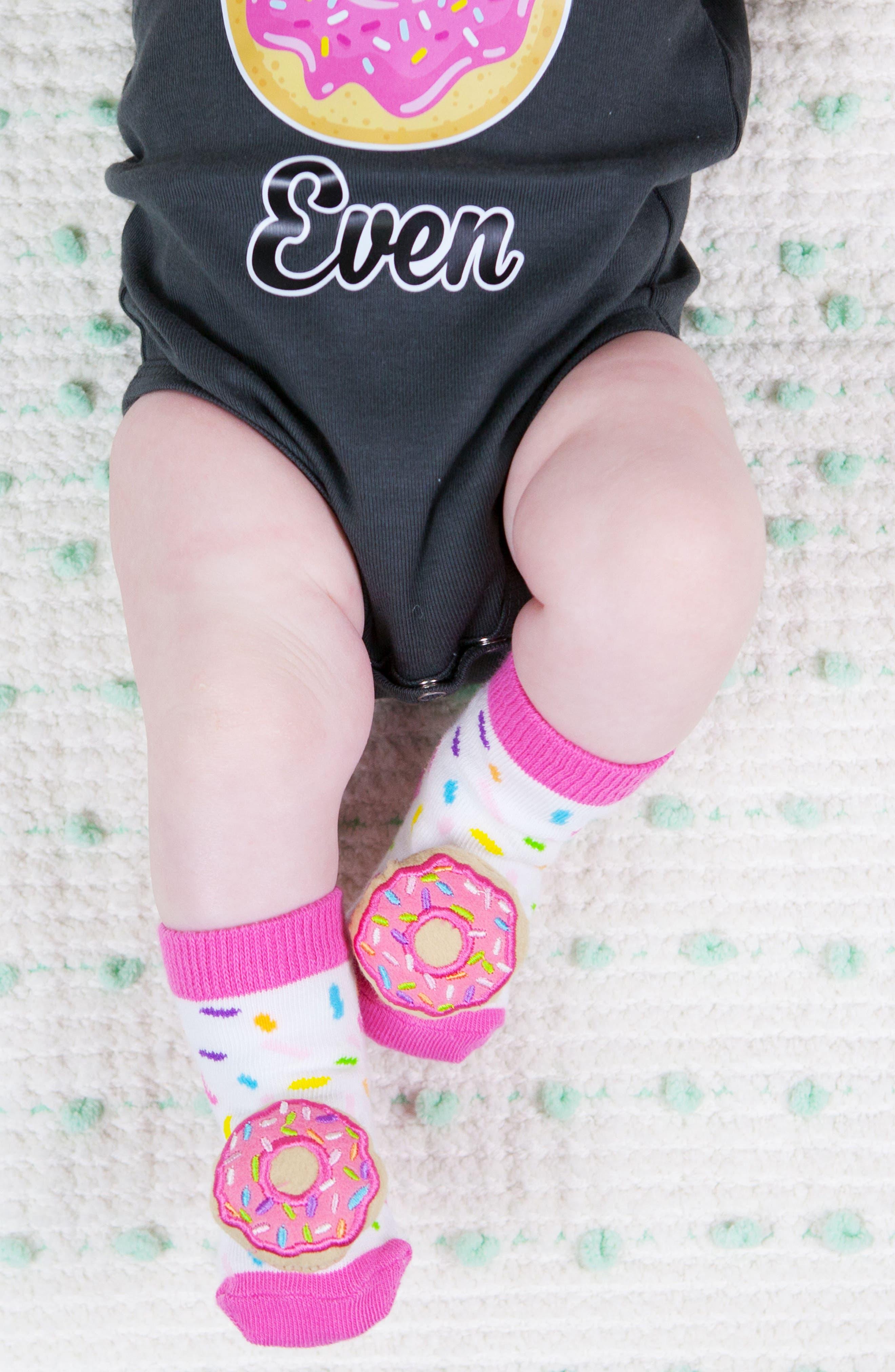 2-Pack Donut Rattle Socks,                             Alternate thumbnail 3, color,                             650