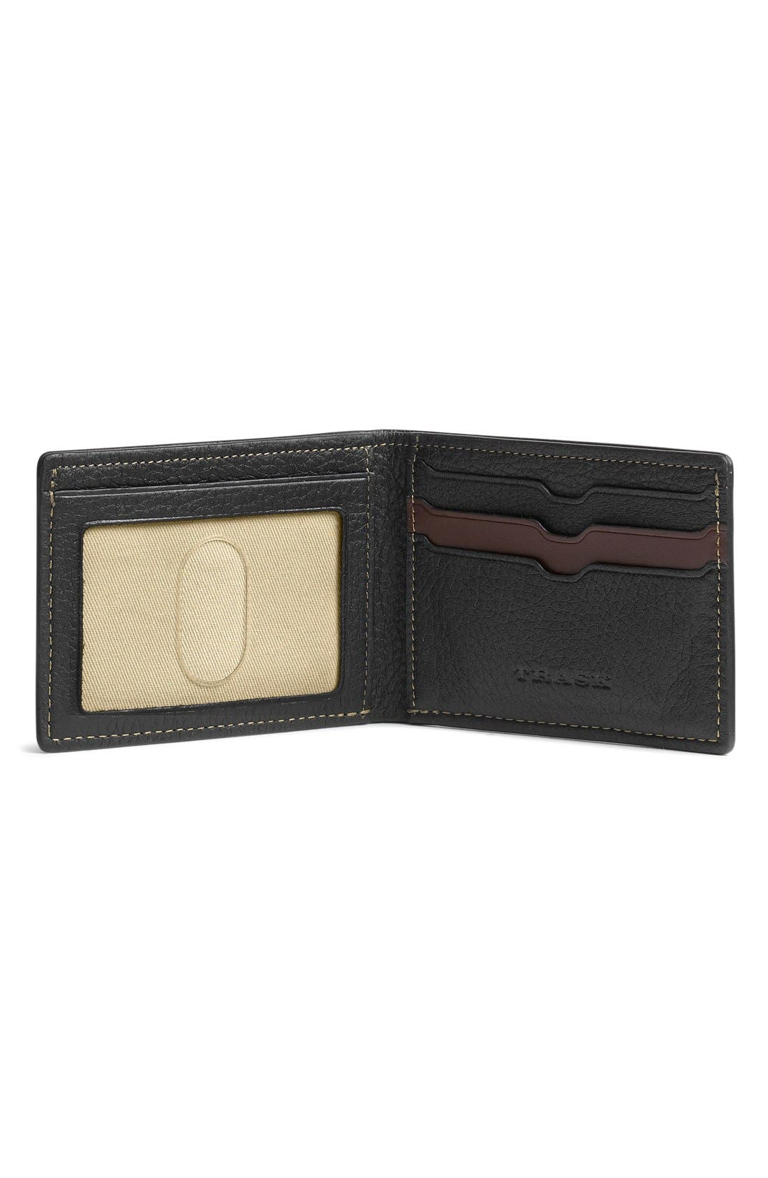 'Jackson' Super Slim Leather Wallet,                             Alternate thumbnail 6, color,                             BLACK