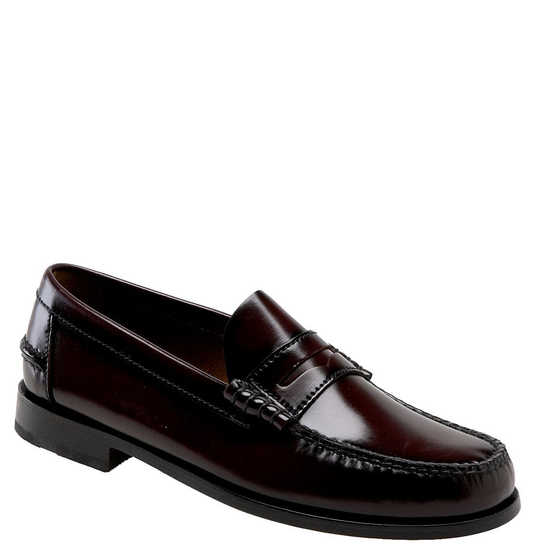 'Berkley' Penny Loafer,                             Main thumbnail 1, color,                             BURGUNDY