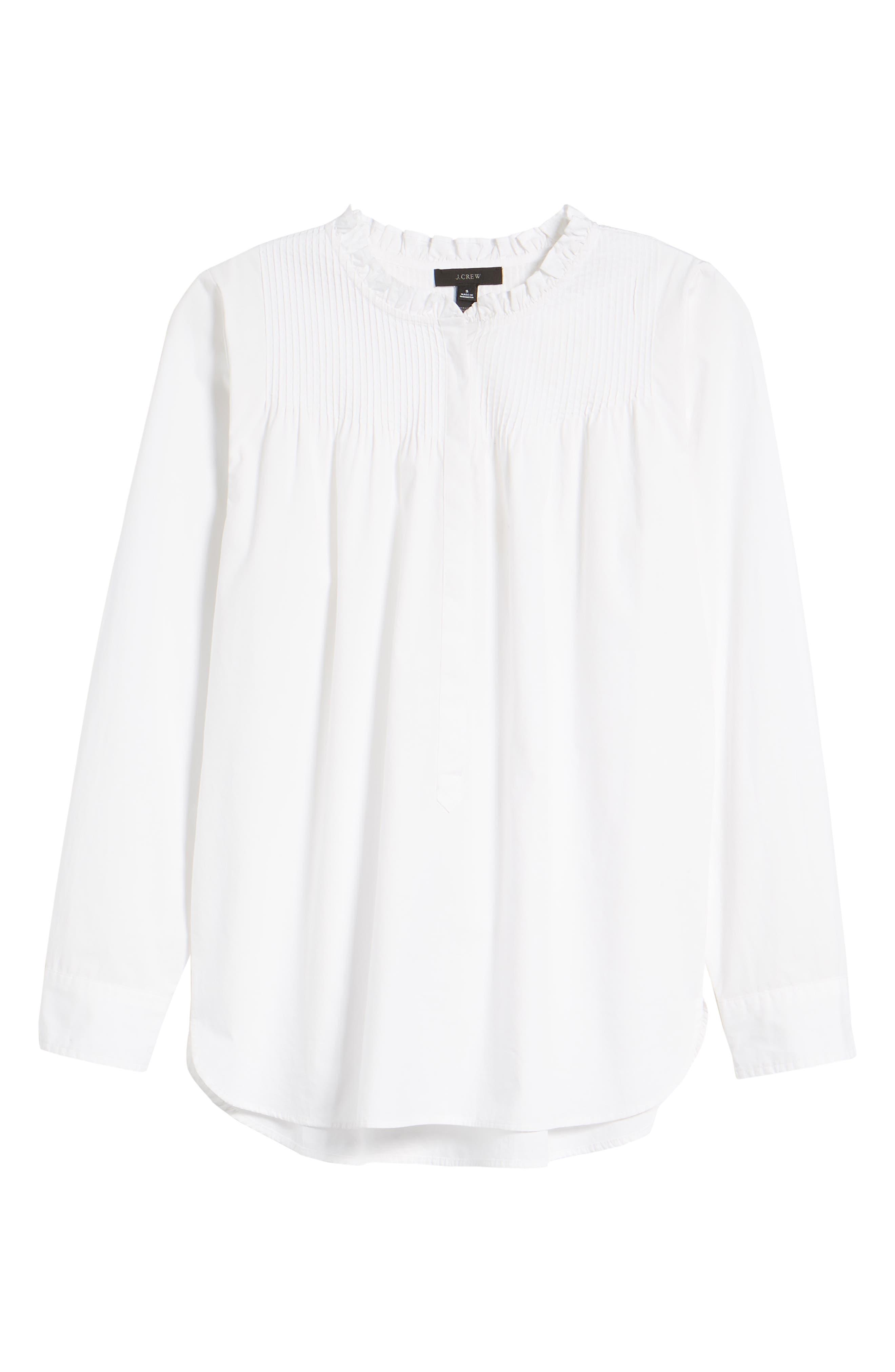 Ruffle Popover Shirt,                             Alternate thumbnail 6, color,                             101