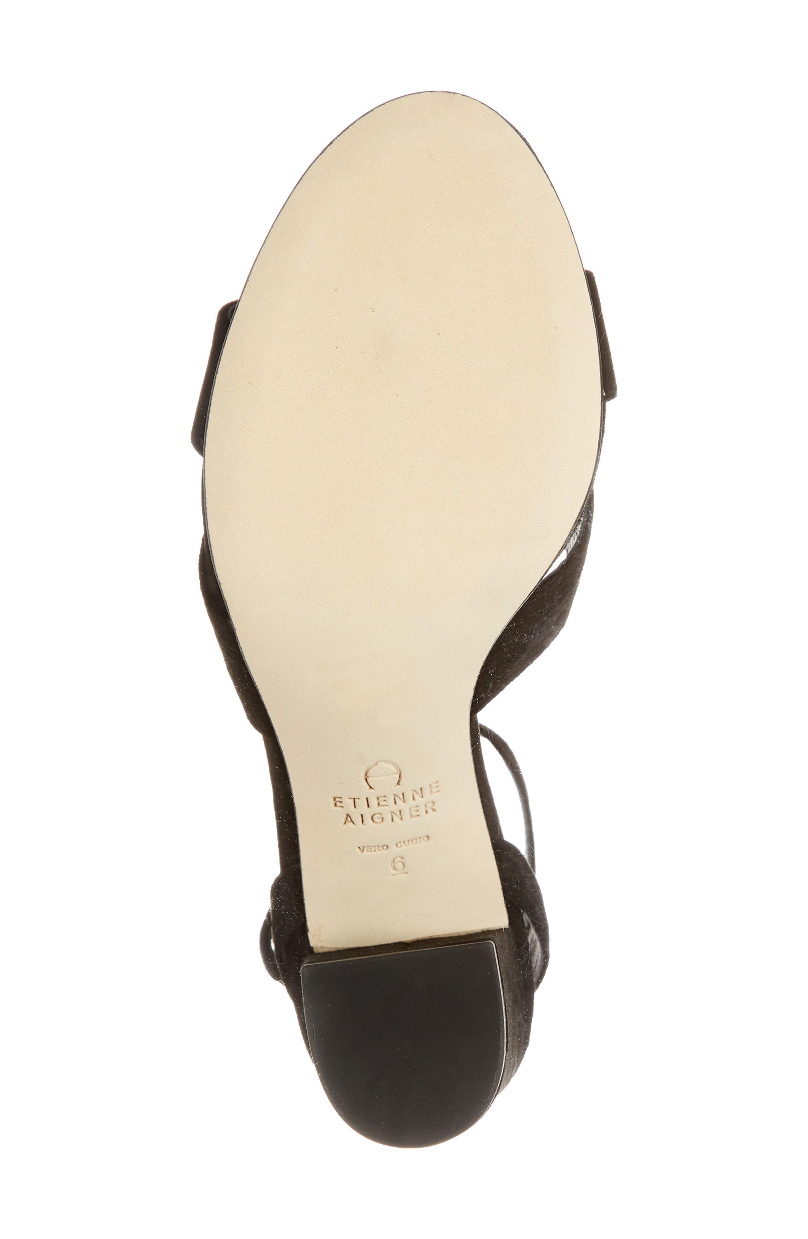 Legend Ankle Strap Sandal,                             Alternate thumbnail 6, color,                             BLACK SUEDE