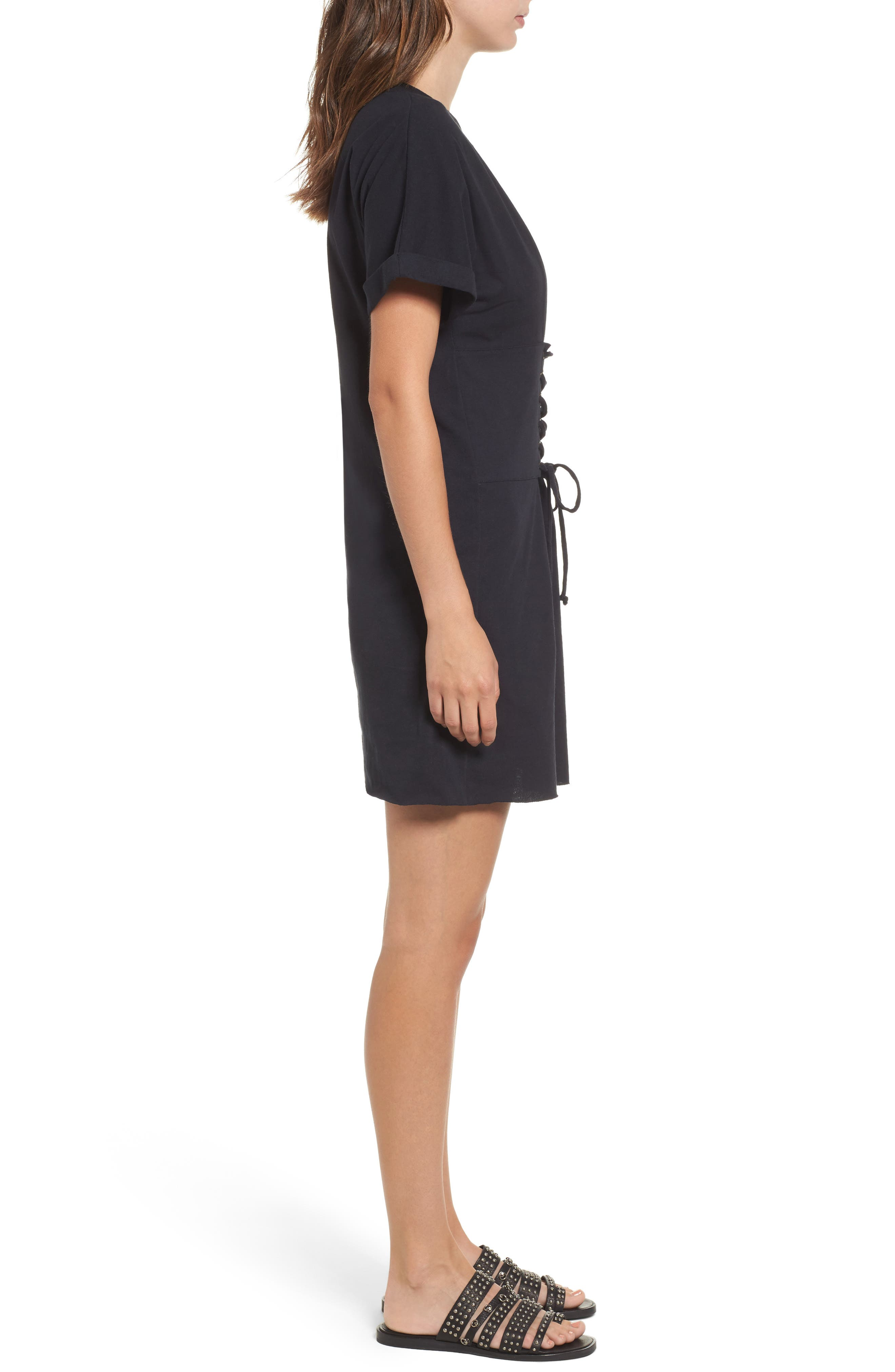 BP.,                             Corset Dress,                             Alternate thumbnail 3, color,                             001