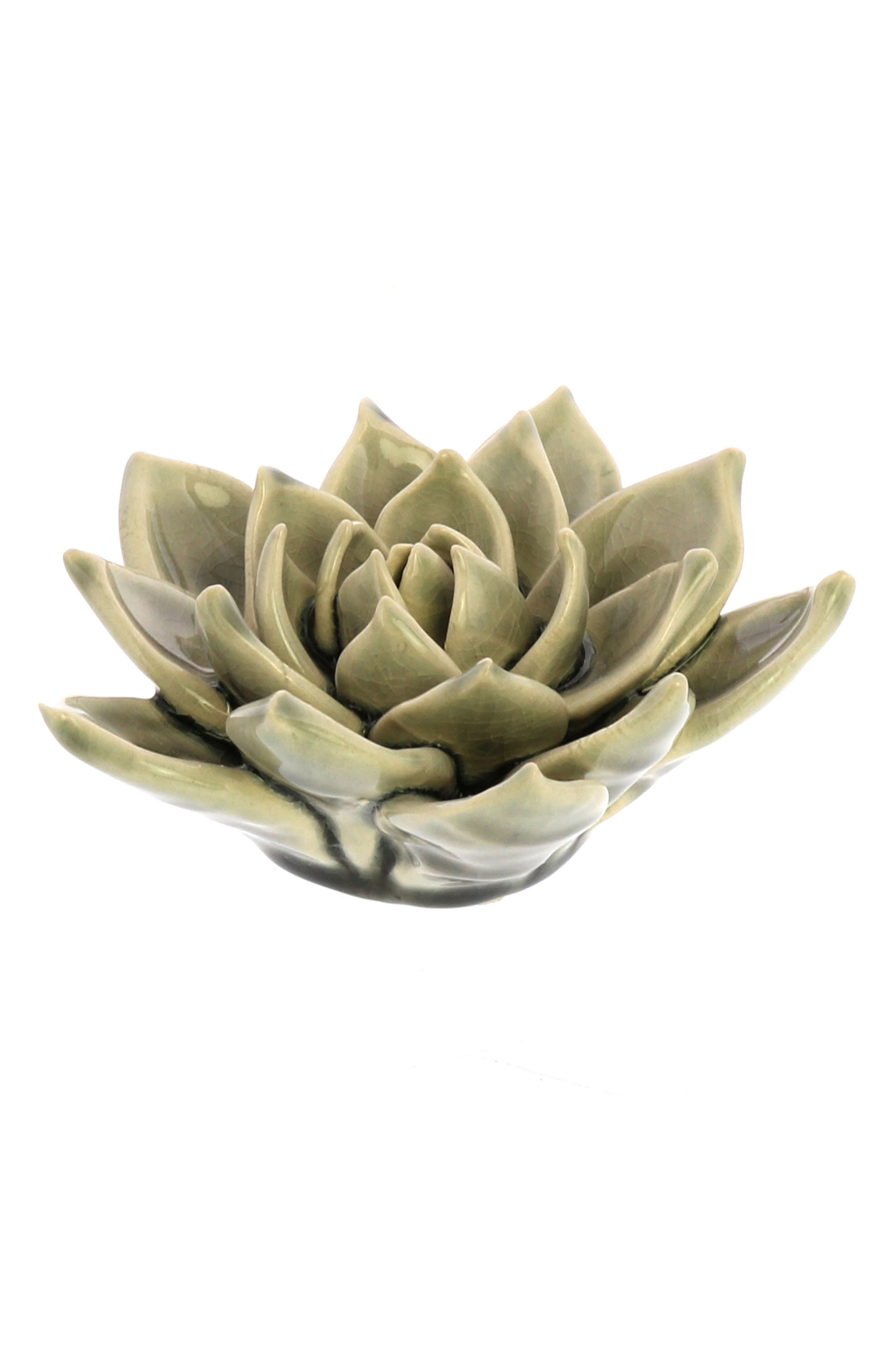 Ceramic Succulent,                         Main,                         color, GREY