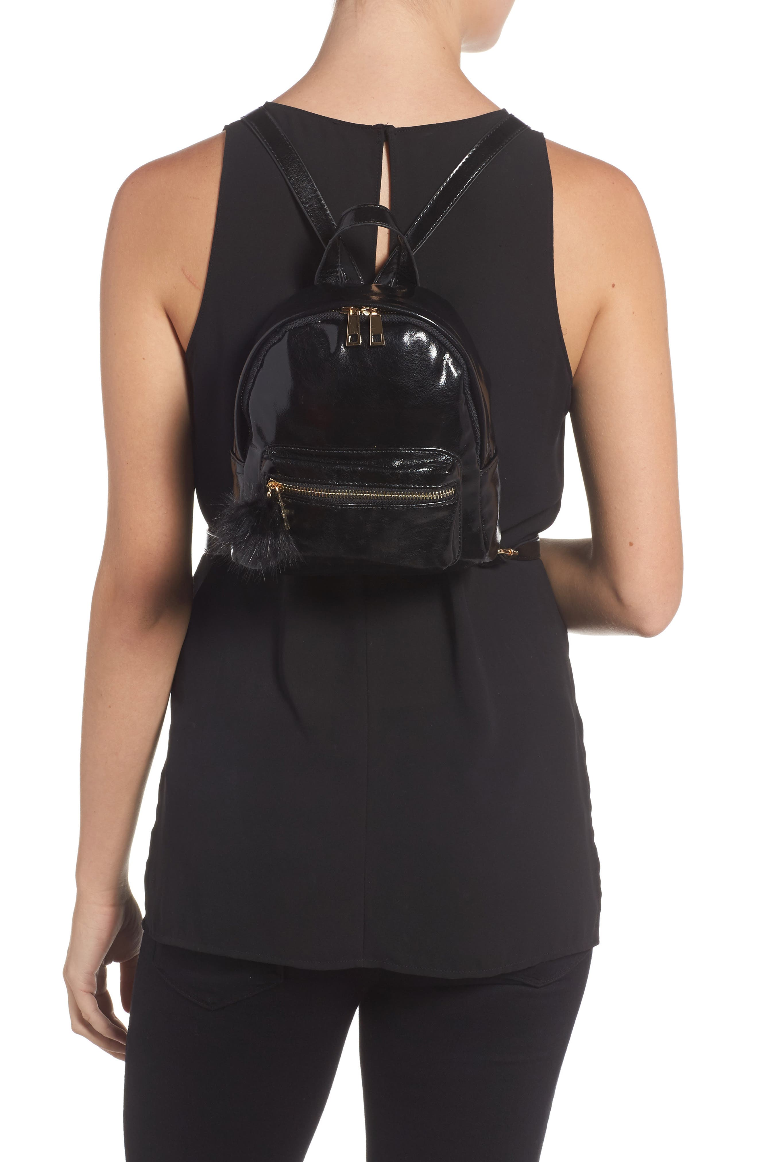 BP.,                             Faux Leather Mini Backpack,                             Alternate thumbnail 2, color,                             002