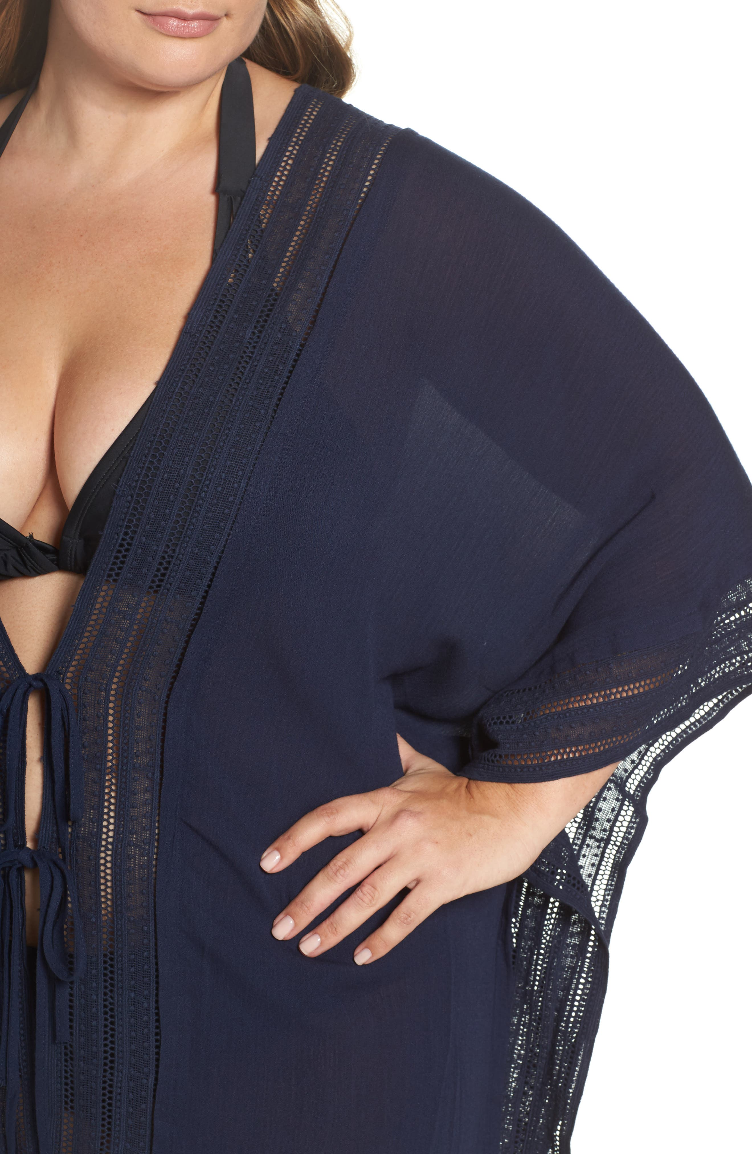 Serendipity Cover-Up Tunic,                             Alternate thumbnail 4, color,                             NAVY
