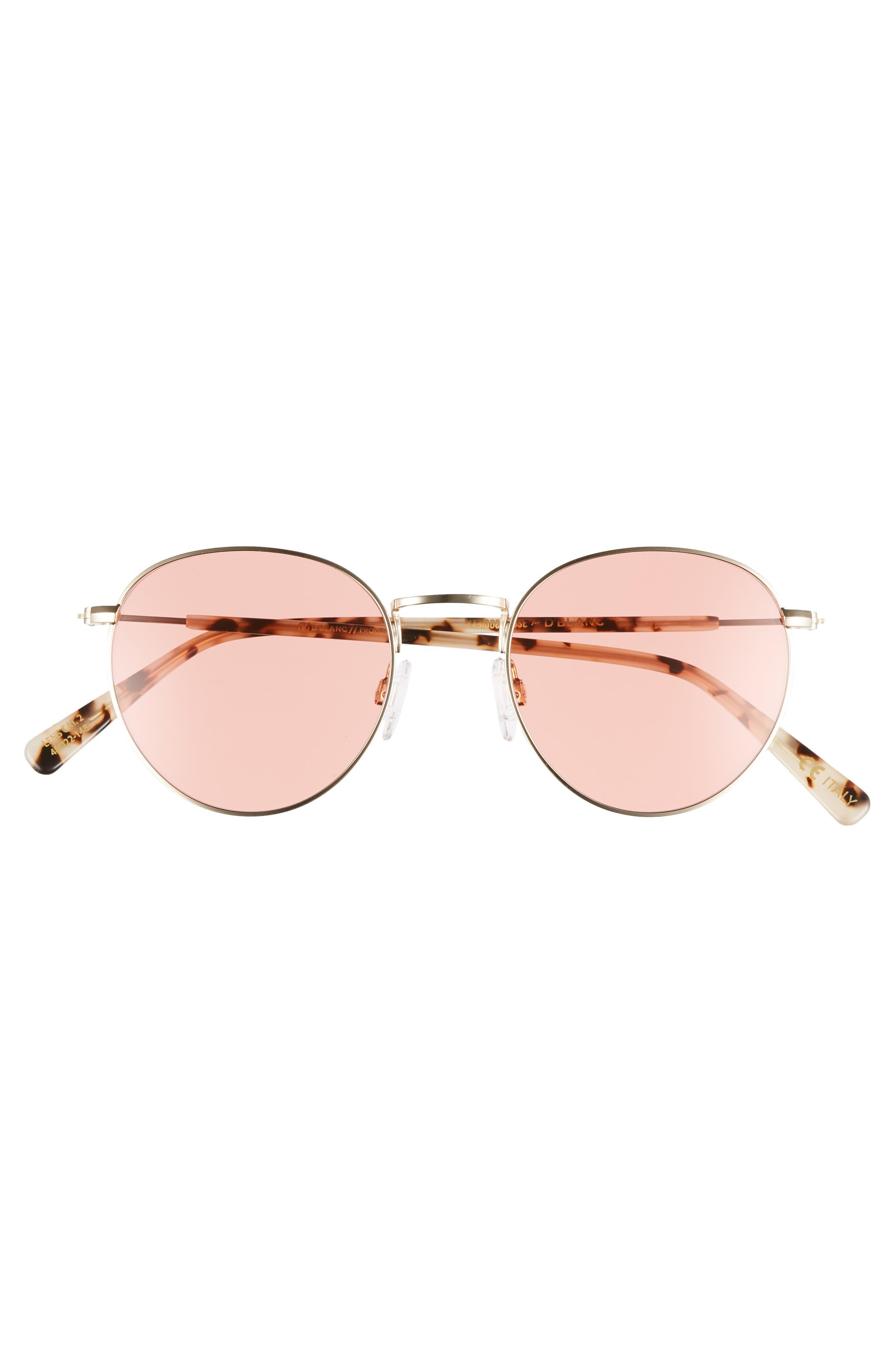 D'BLANC Prologue 48mm Sunglasses,                             Alternate thumbnail 3, color,                             710