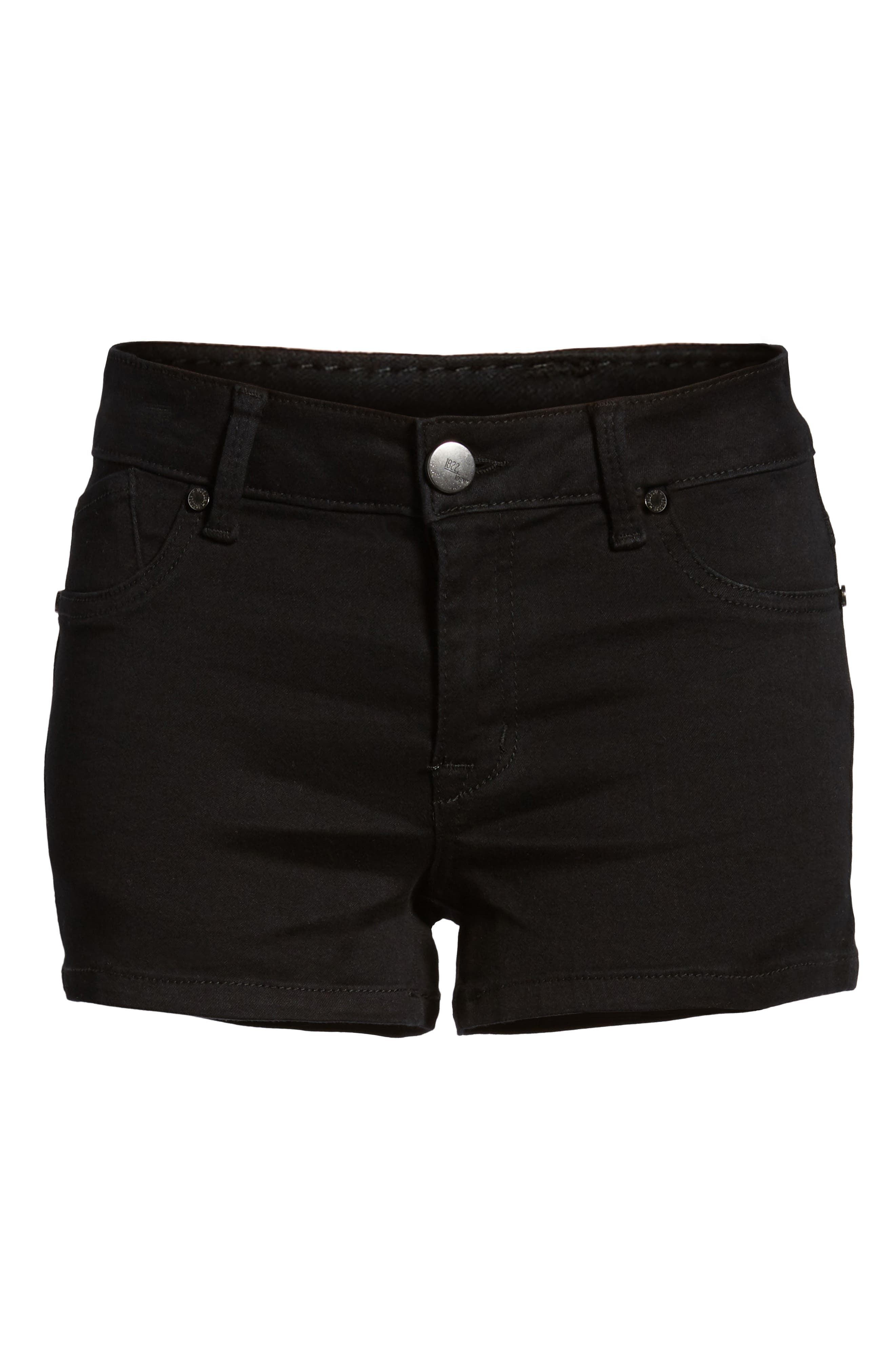 Butter Denim Shorts,                             Alternate thumbnail 7, color,                             001