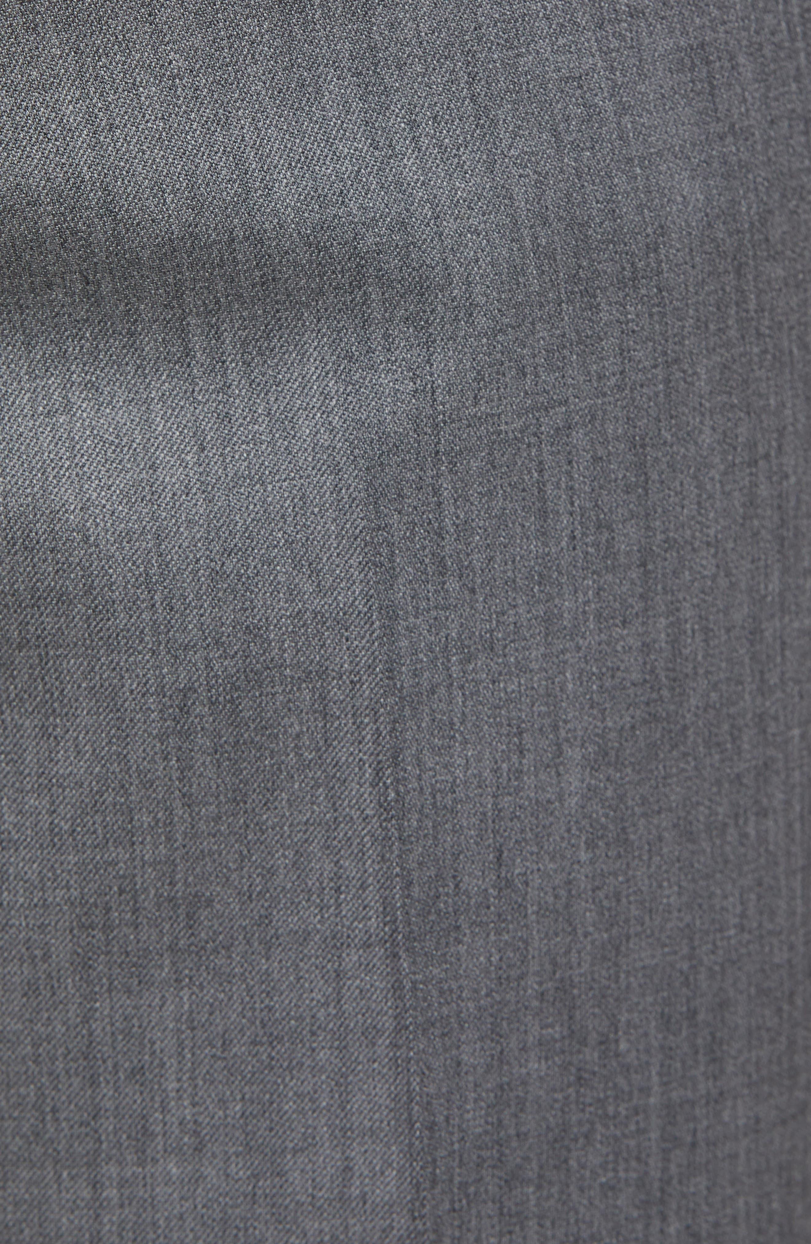 Torino Flat Front Wool Gabardine Trousers,                             Alternate thumbnail 27, color,
