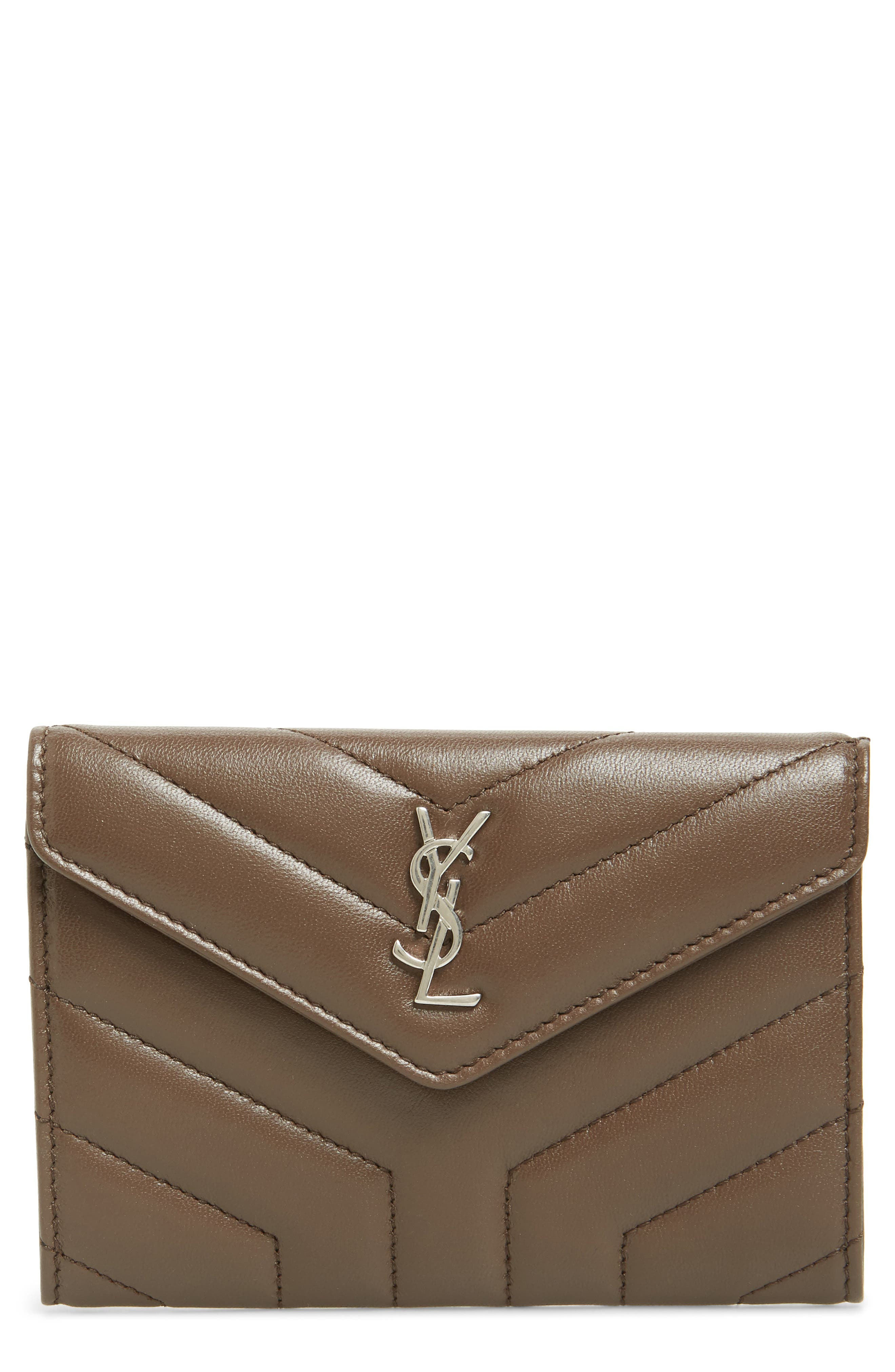 Small Loulou Matelassé Leather Wallet,                         Main,                         color, FAGGIO