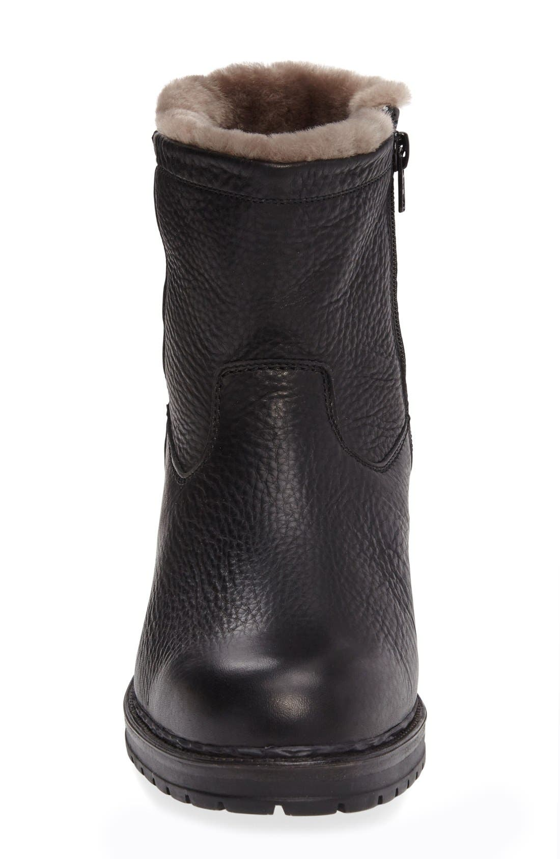 Leonardo Genuine Shearling Lined Boot,                             Alternate thumbnail 2, color,                             BLACK MONTANA