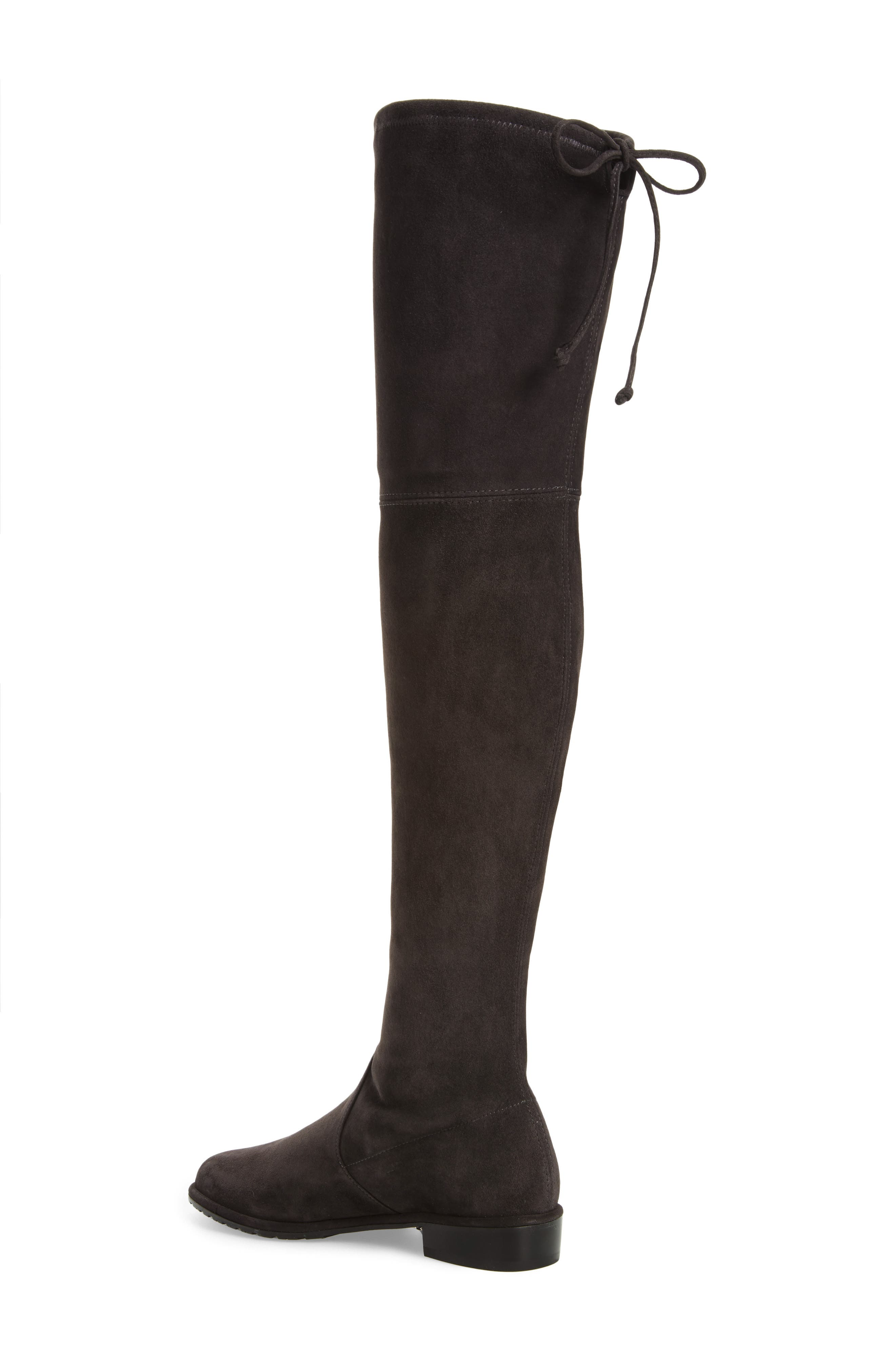 'Lowland' Over the Knee Boot,                             Alternate thumbnail 2, color,                             ASPHALT SUEDE