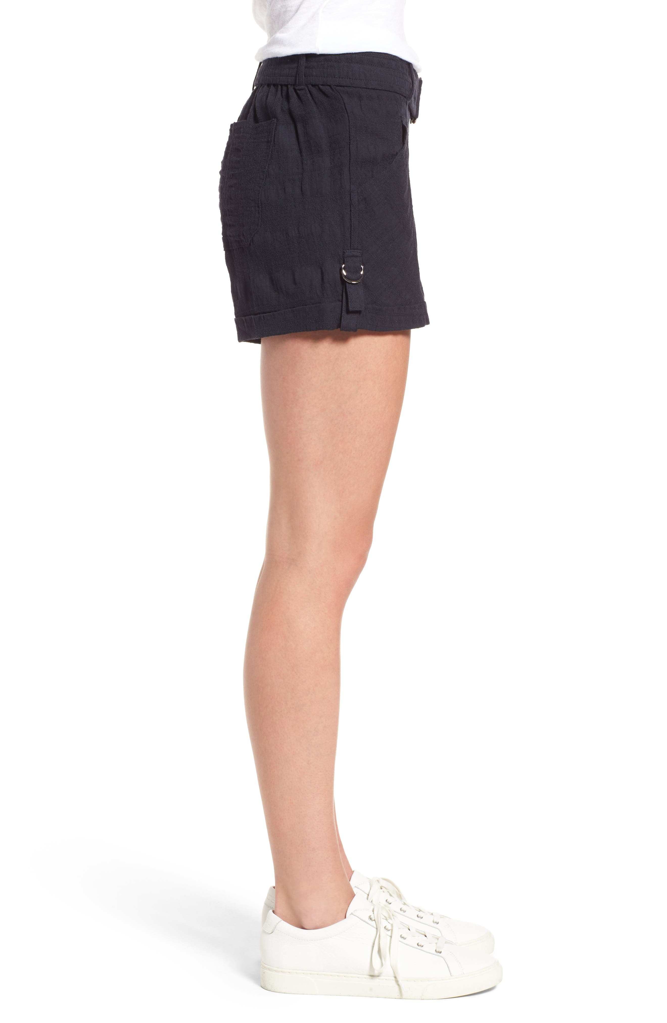 D-Ring Belted Shorts,                             Alternate thumbnail 3, color,                             490