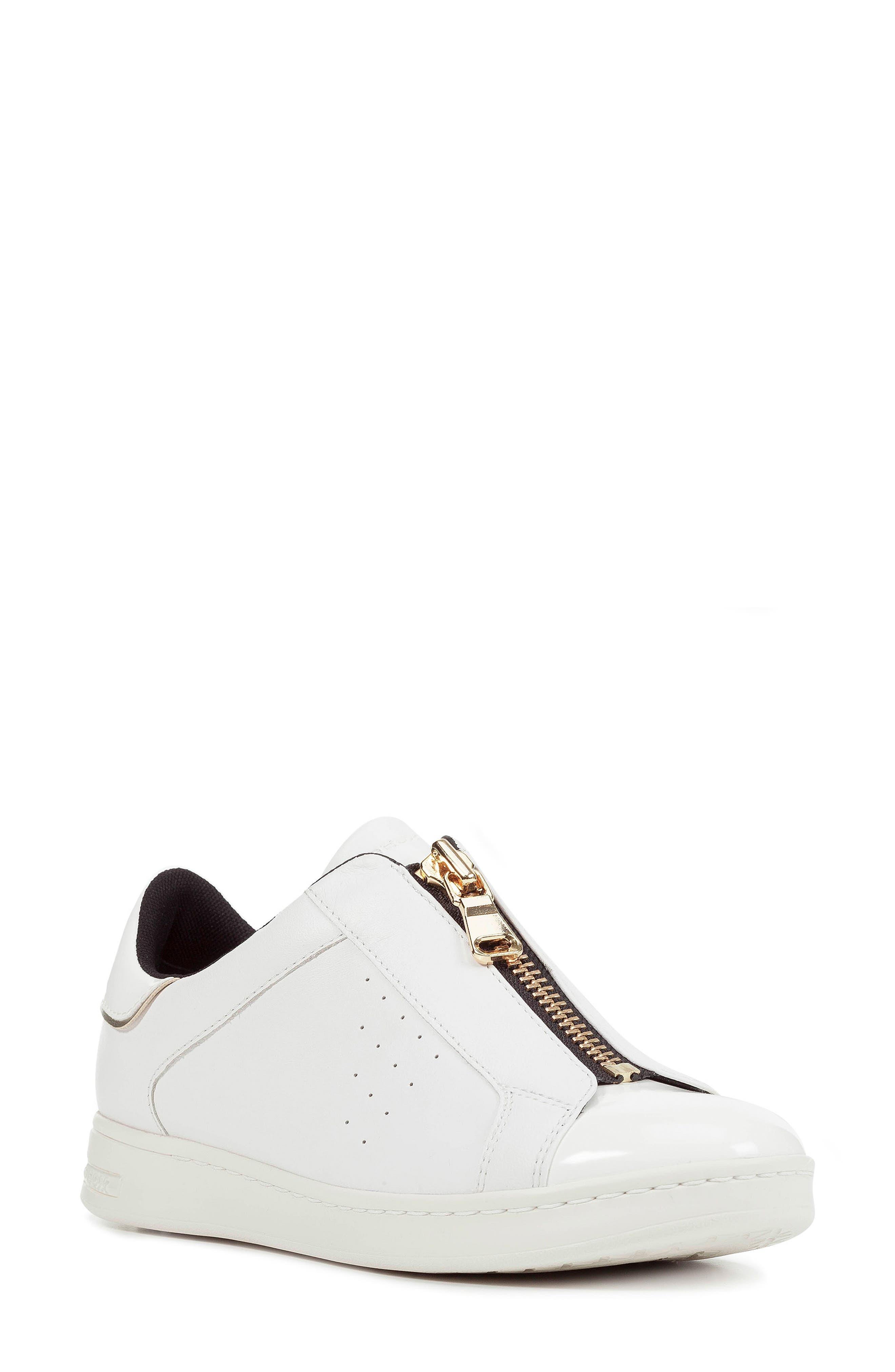 Jaysen Sneaker,                             Main thumbnail 1, color,                             WHITE LEATHER
