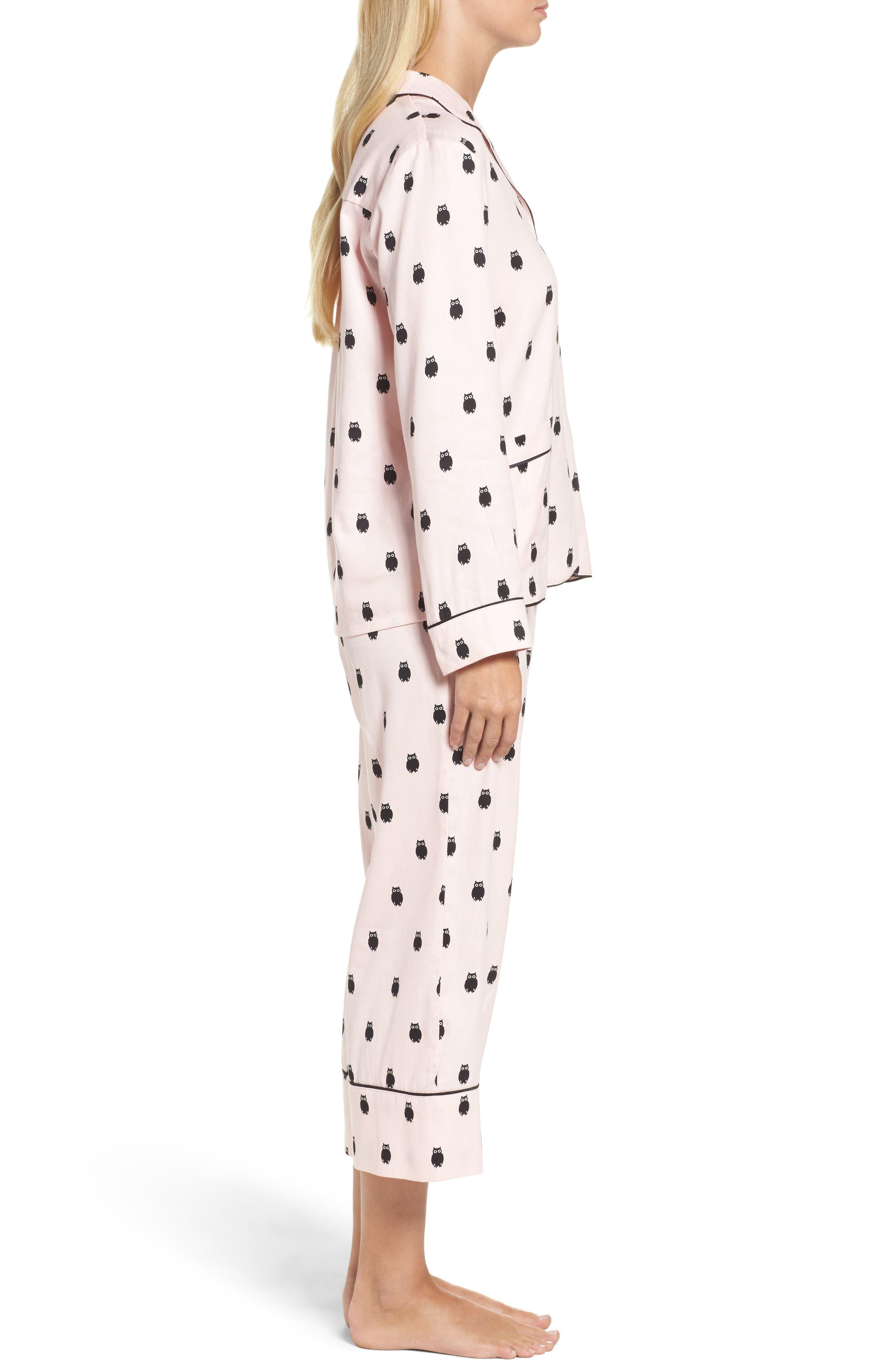 crop pajamas,                             Alternate thumbnail 3, color,                             650