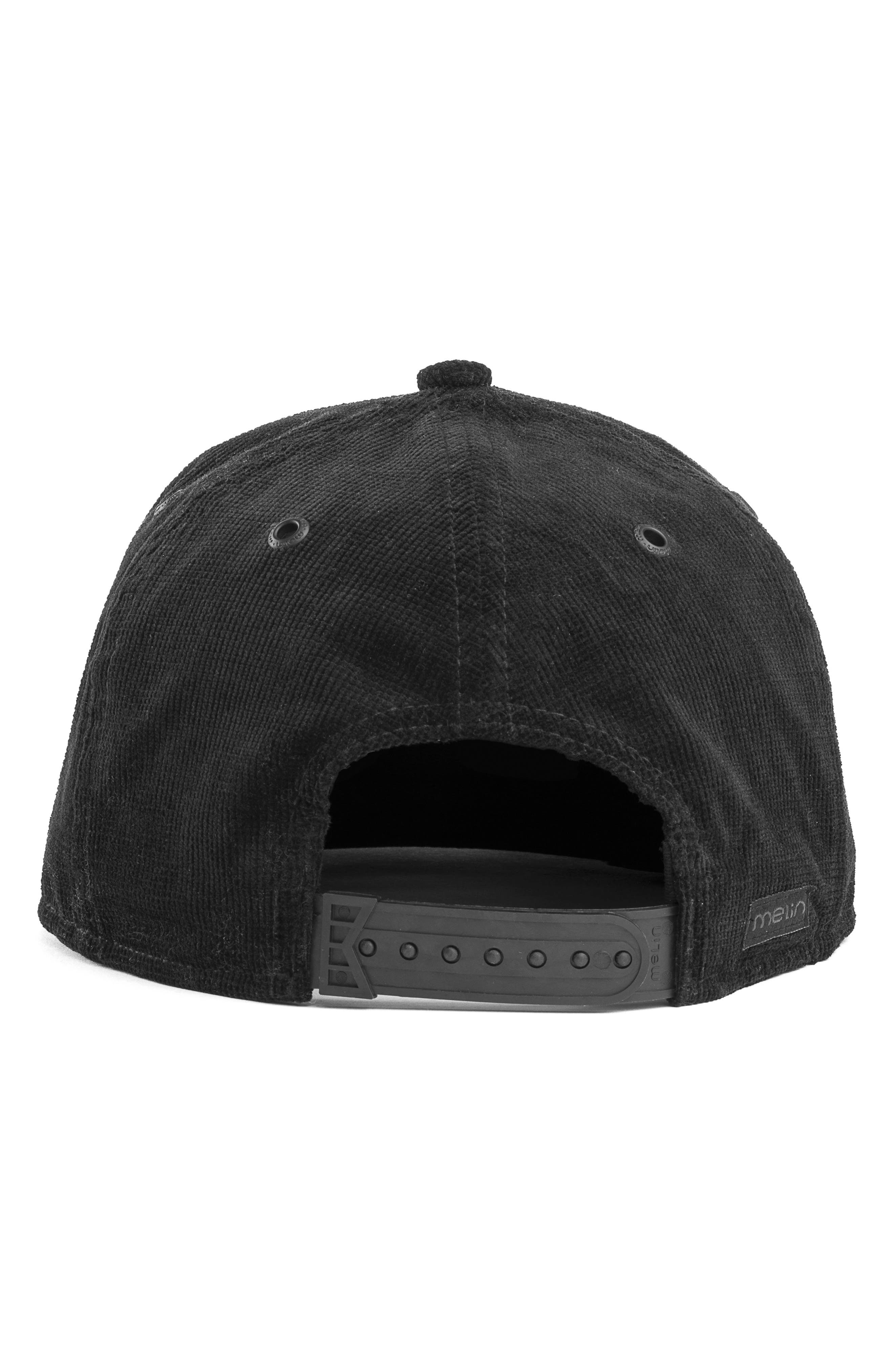 The Stealth Snapback Baseball Cap,                             Alternate thumbnail 3, color,                             BLACK
