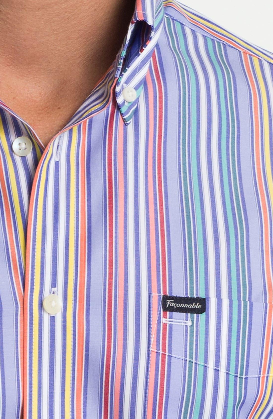 Façonnable Club Fit Sport Shirt,                             Alternate thumbnail 3, color,