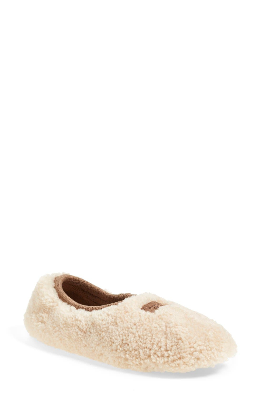 Birche Slipper,                             Main thumbnail 1, color,                             NATURAL