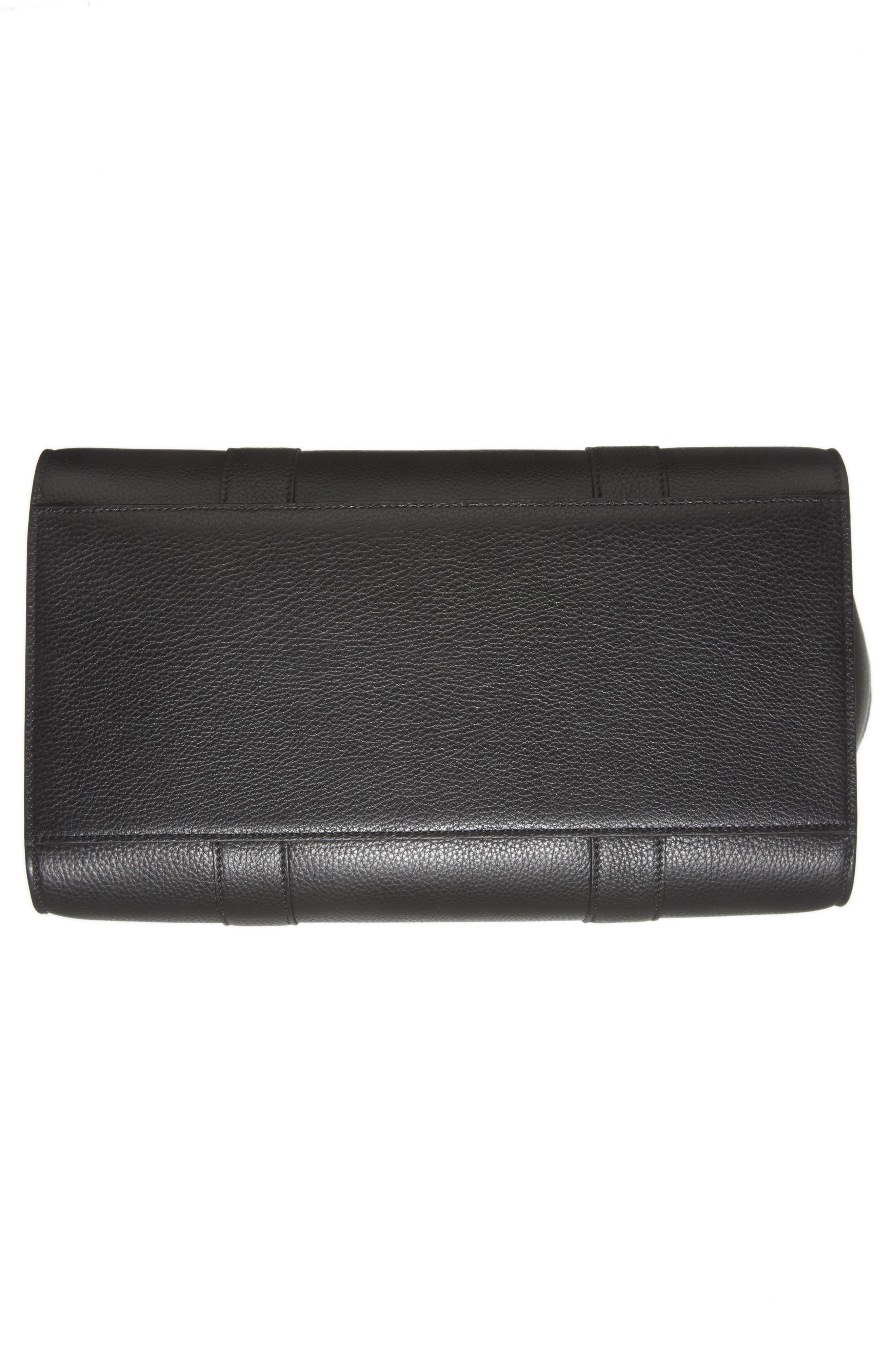 Large Bayswater Leather Tote,                             Alternate thumbnail 6, color,                             BLACK/ BLACK