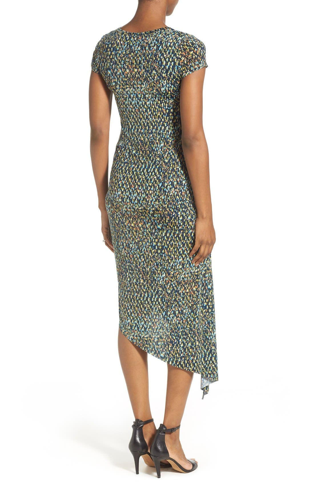 Print Side Ruched Maternity Dress,                             Alternate thumbnail 2, color,                             ABSTRACT GRAPHIC PRINT