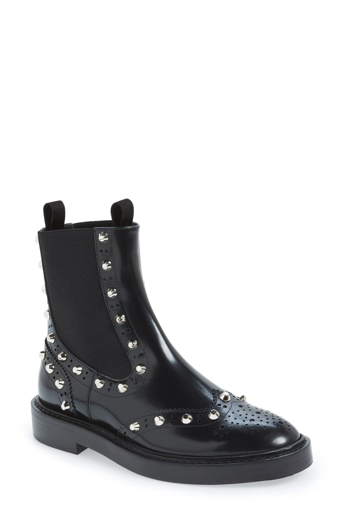 Studded Chelsea Boot,                         Main,                         color, 001