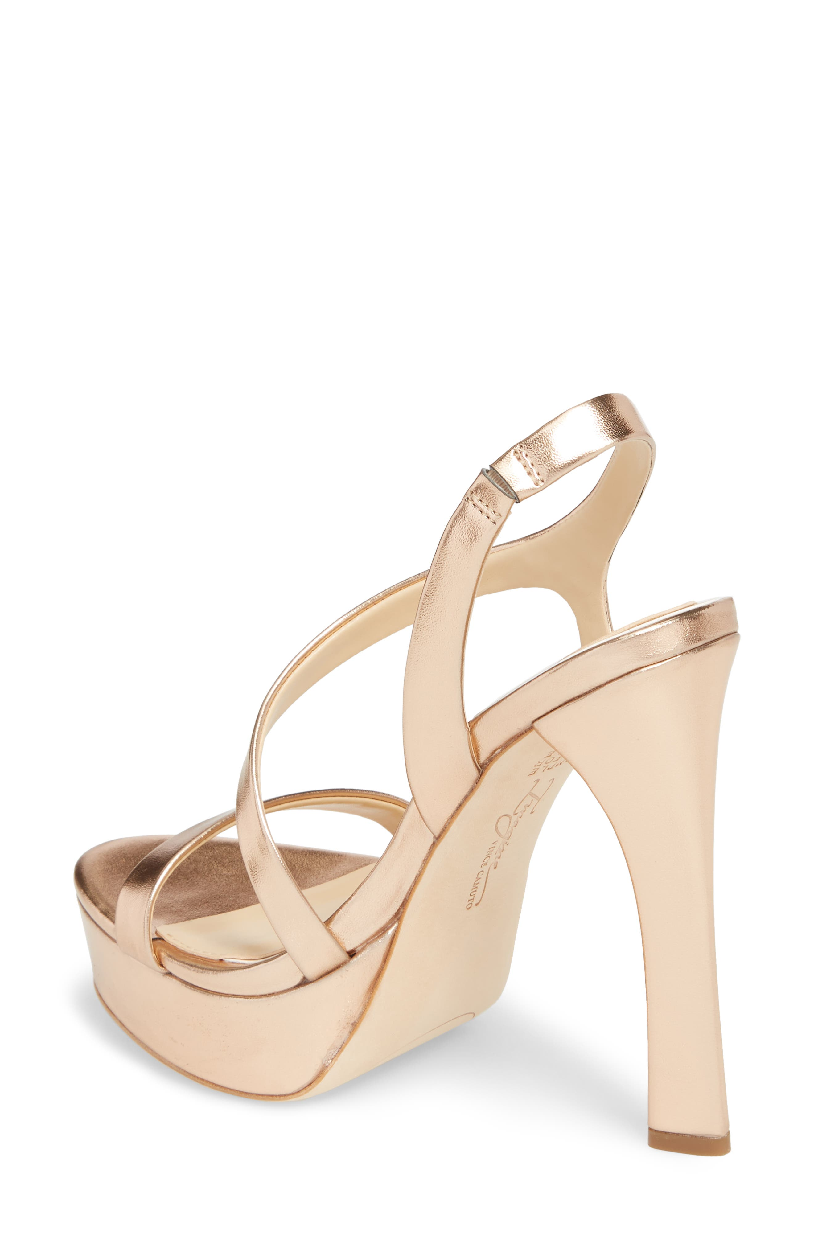Piera Platform Sandal,                             Alternate thumbnail 2, color,                             ROSE GOLD LEATHER