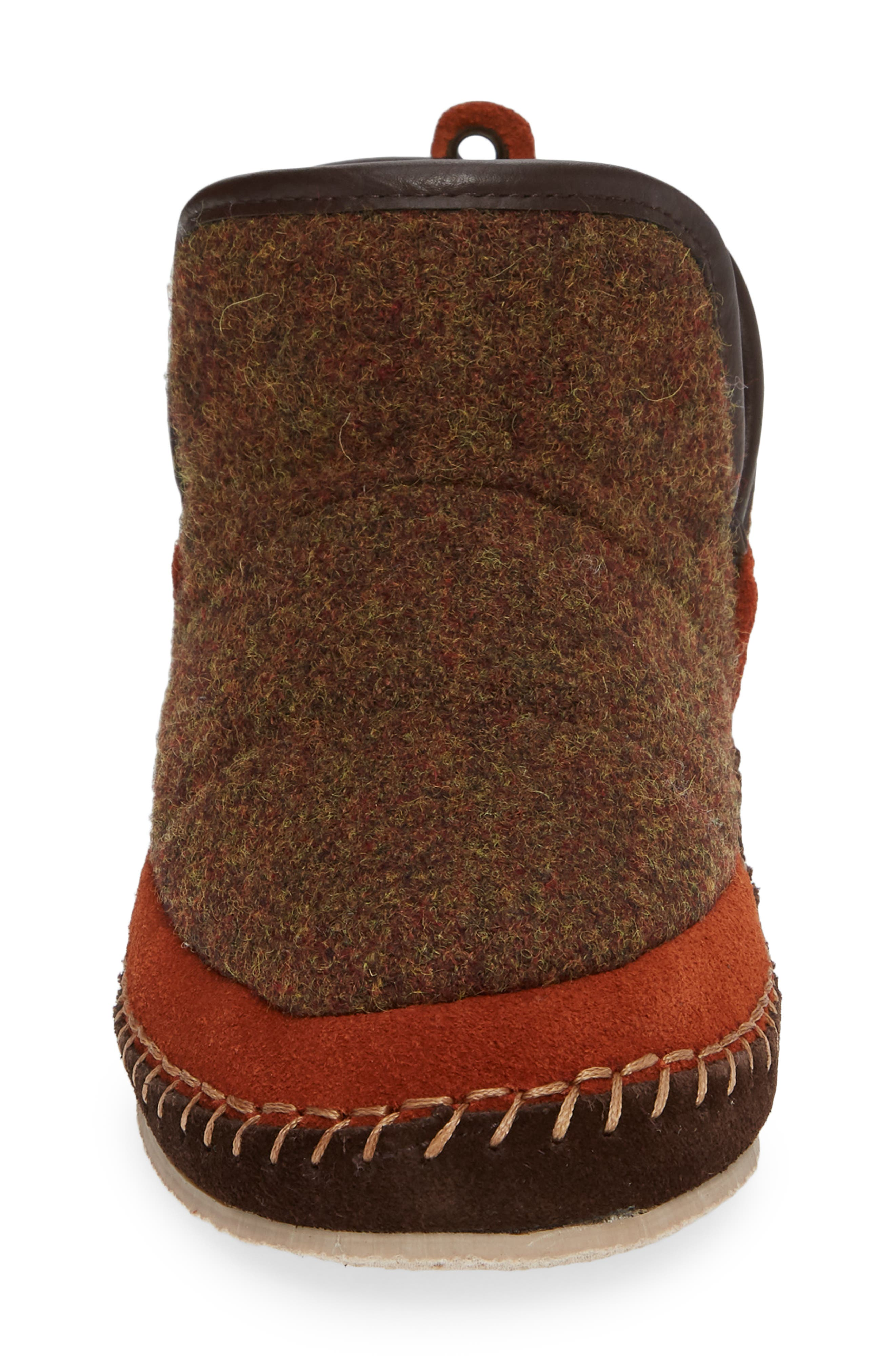 WOOLRICH,                             Glamper Slipper Bootie,                             Alternate thumbnail 4, color,                             SPICED CIDER WOOL