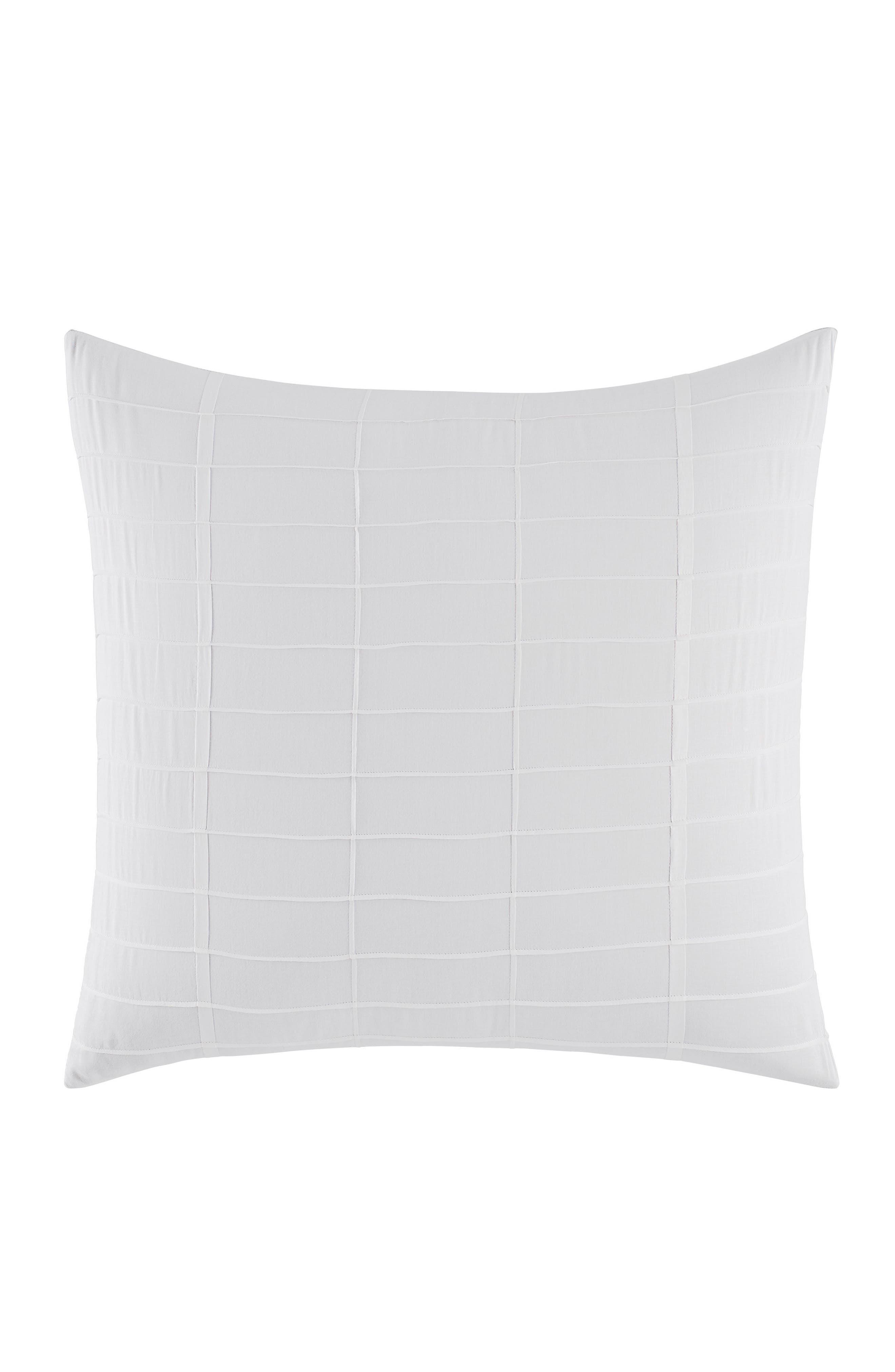 Mirrored Square Euro Sham,                         Main,                         color, WHITE