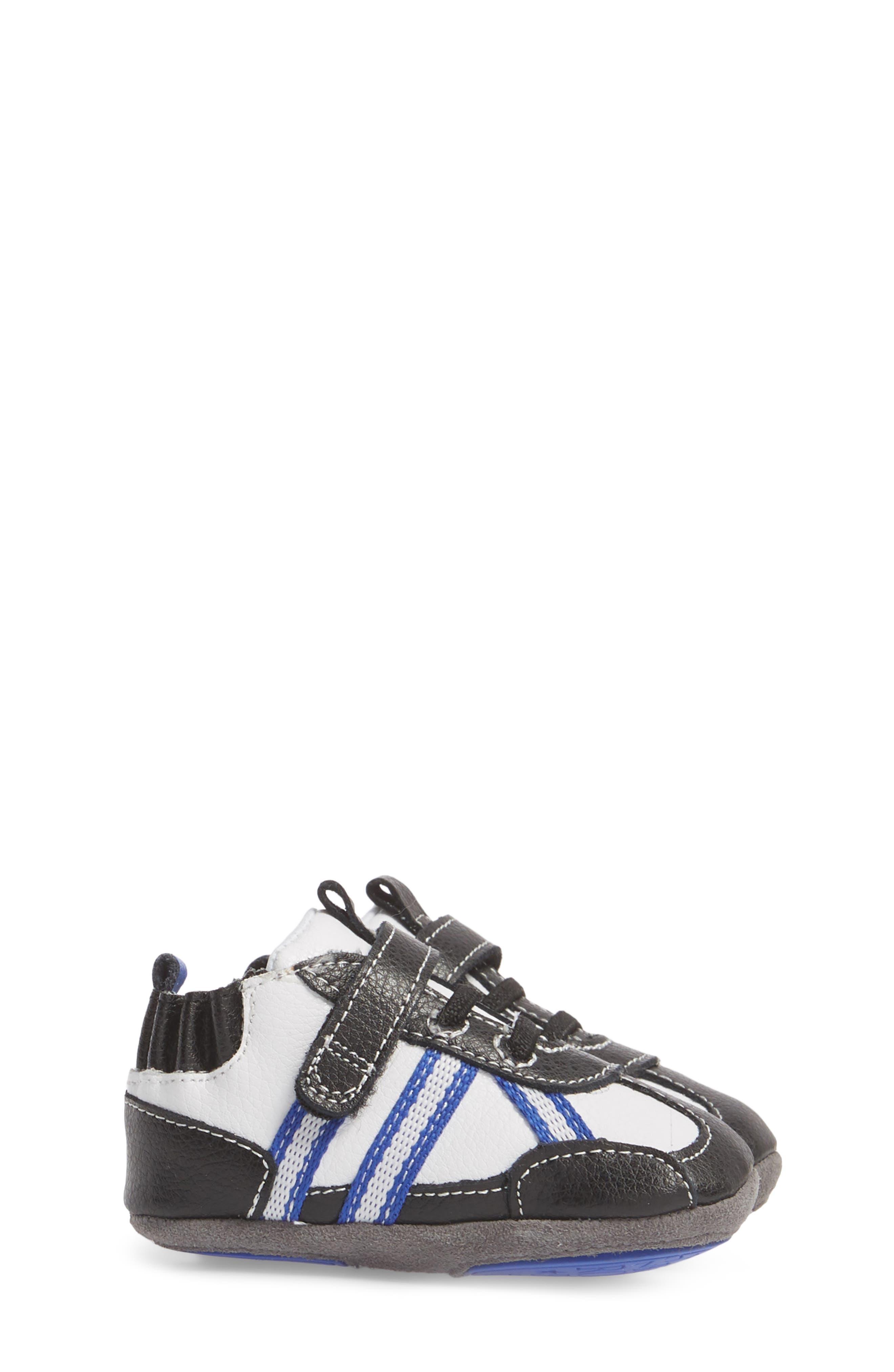 Jogging Josh Slip-On Crib Sneaker,                             Alternate thumbnail 3, color,                             BLACK