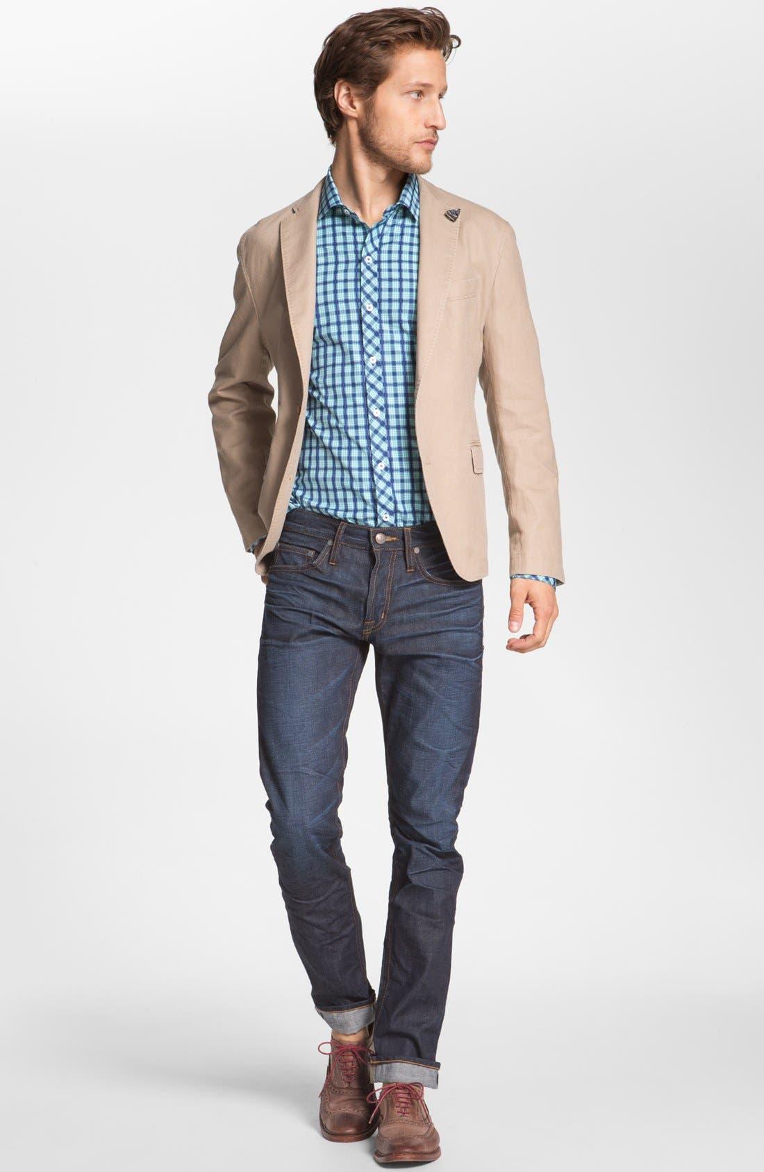 ASBURY PARK,                             '1888 Skinny Fit' Raw Selvedge Jeans,                             Alternate thumbnail 5, color,                             401