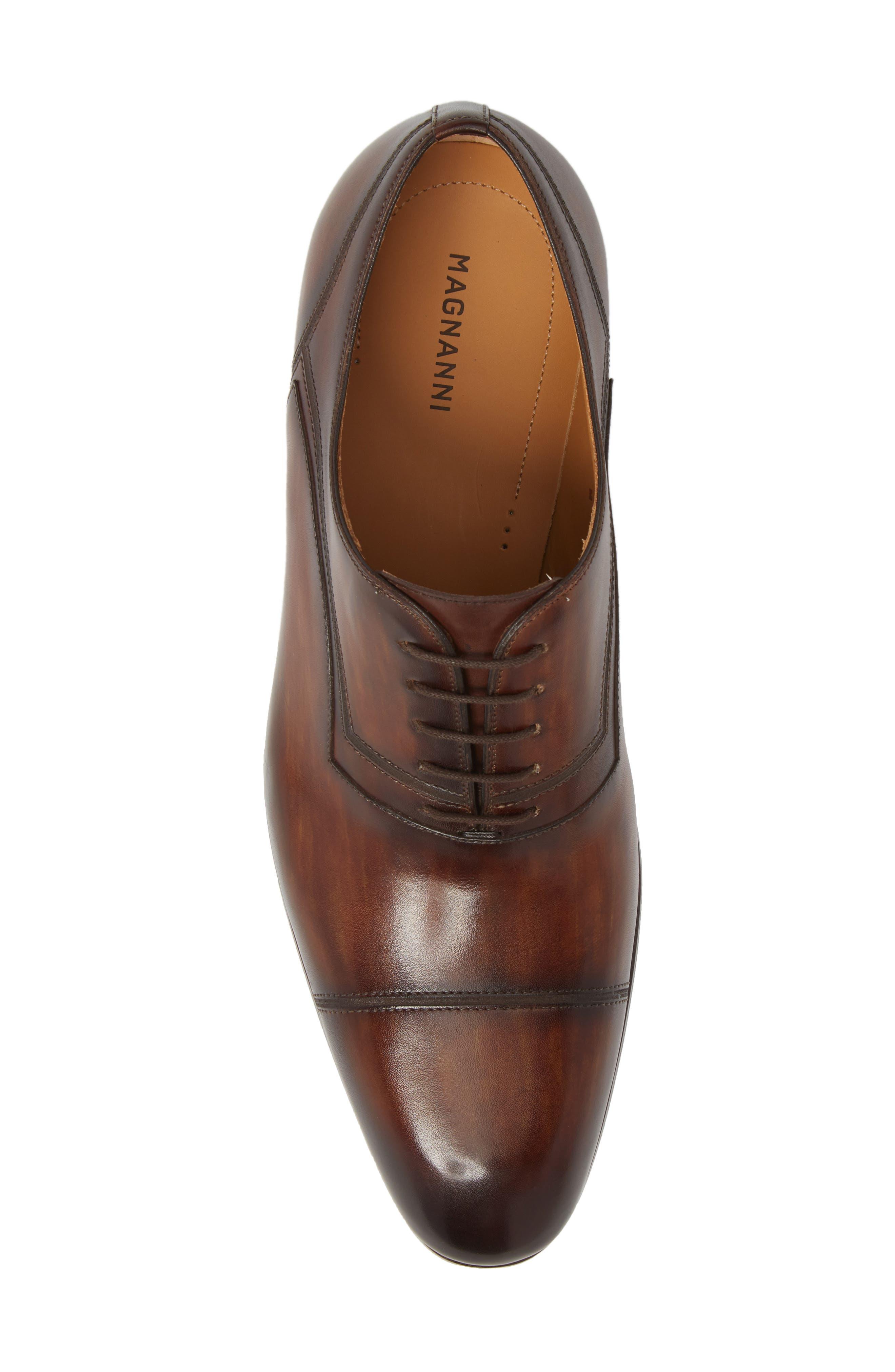 Cadiz Whole Cut Shoe,                             Alternate thumbnail 5, color,                             TOBACCO LEATHER