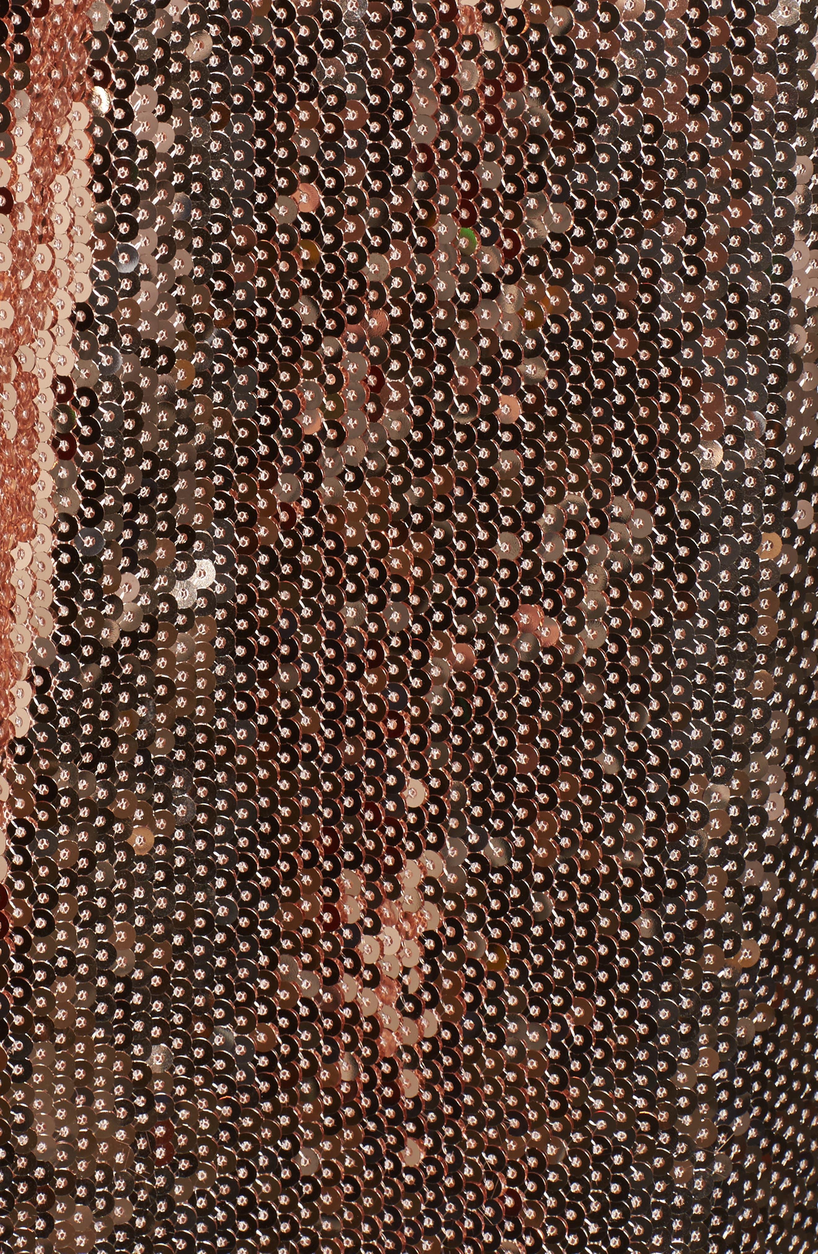 Lace Trim Sequin Camisole Top,                             Alternate thumbnail 5, color,