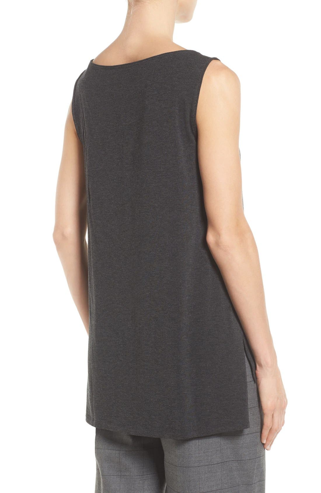 Stretch Tencel<sup>®</sup> Jersey Tank,                             Alternate thumbnail 4, color,                             002