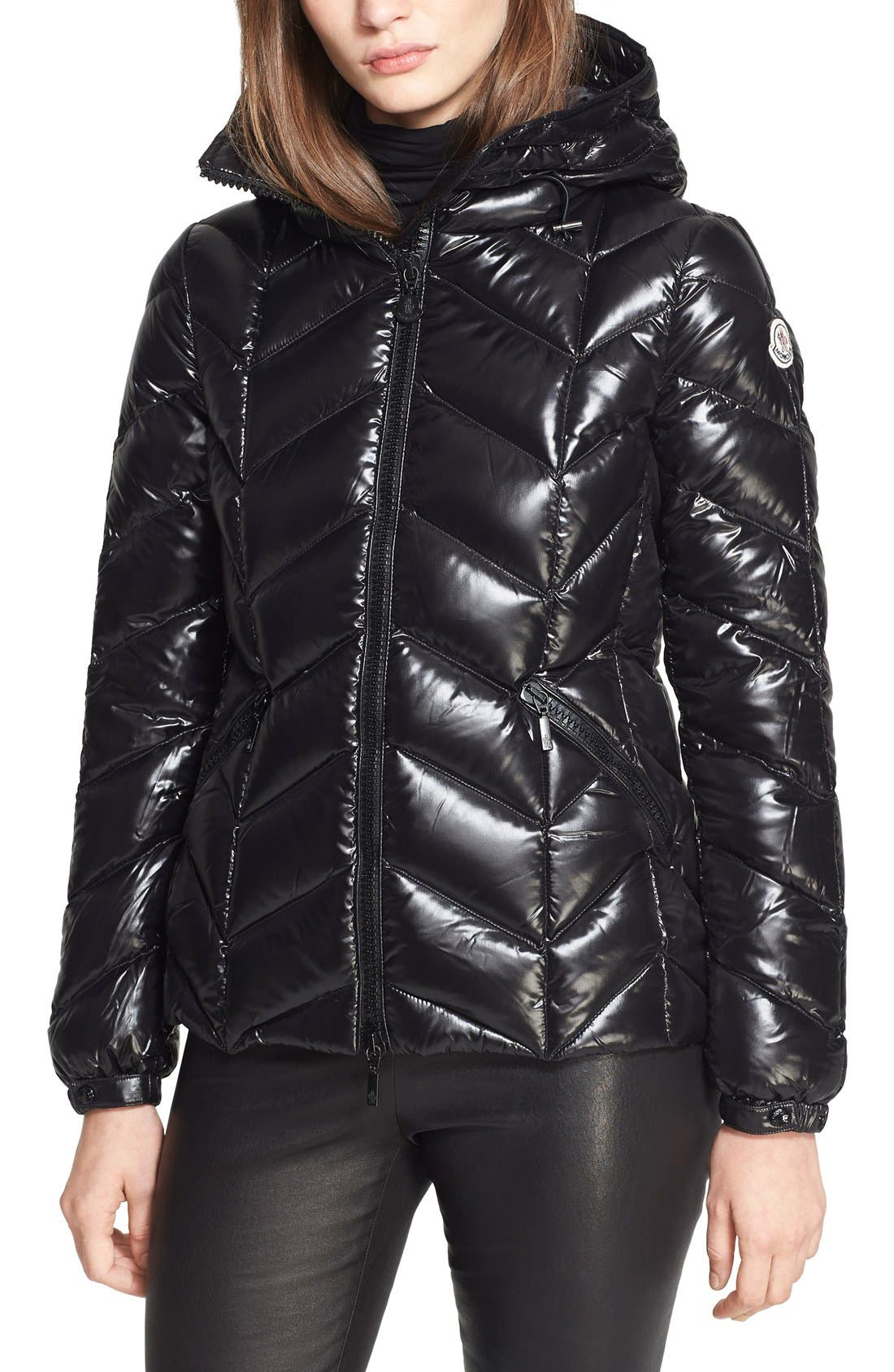 'Badete' Hooded Down Jacket, Main, color, 001