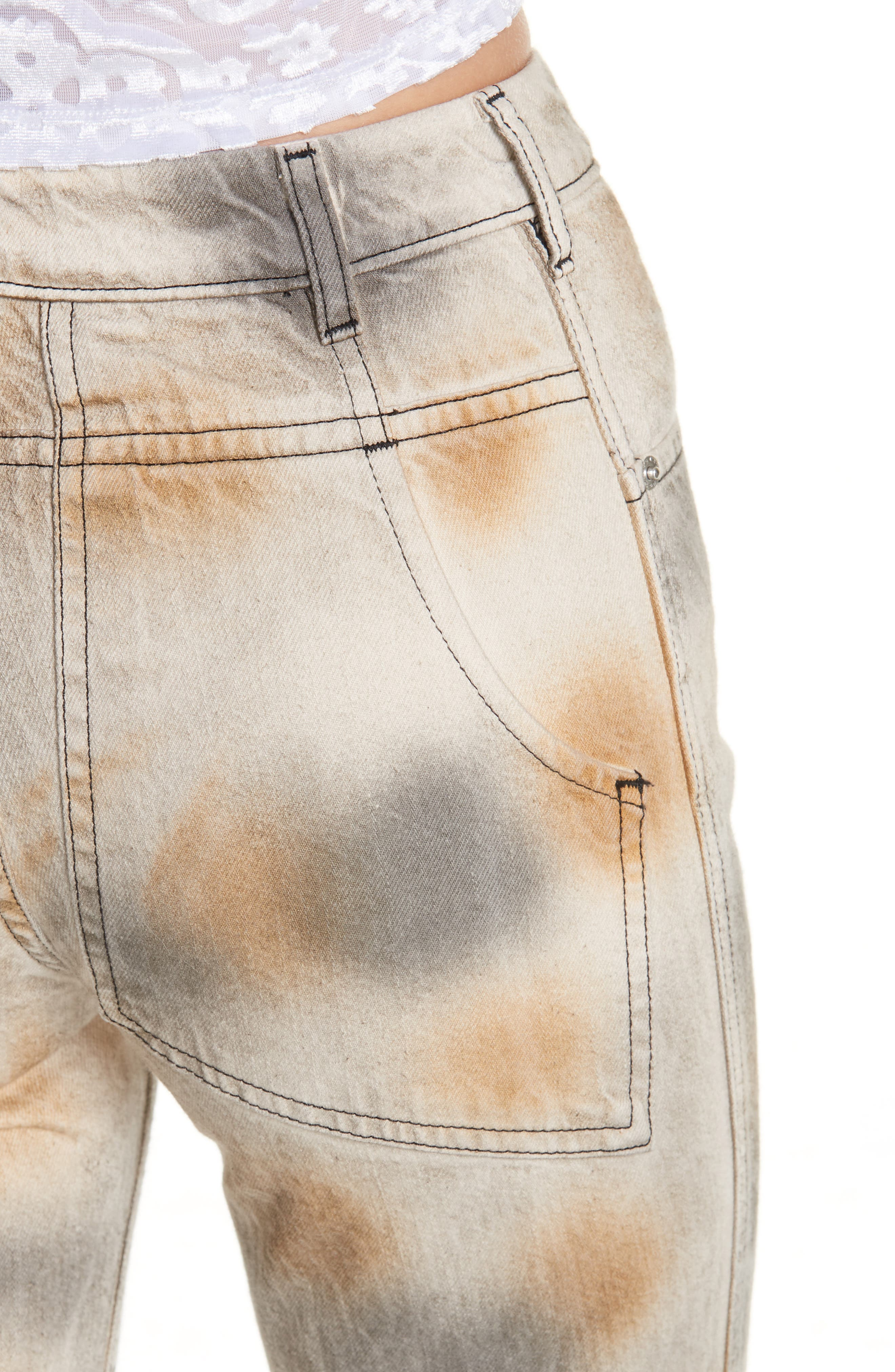 Echkaus Latta EL Tie Dye Straight Leg Jeans,                             Alternate thumbnail 4, color,                             DIRTY DYE
