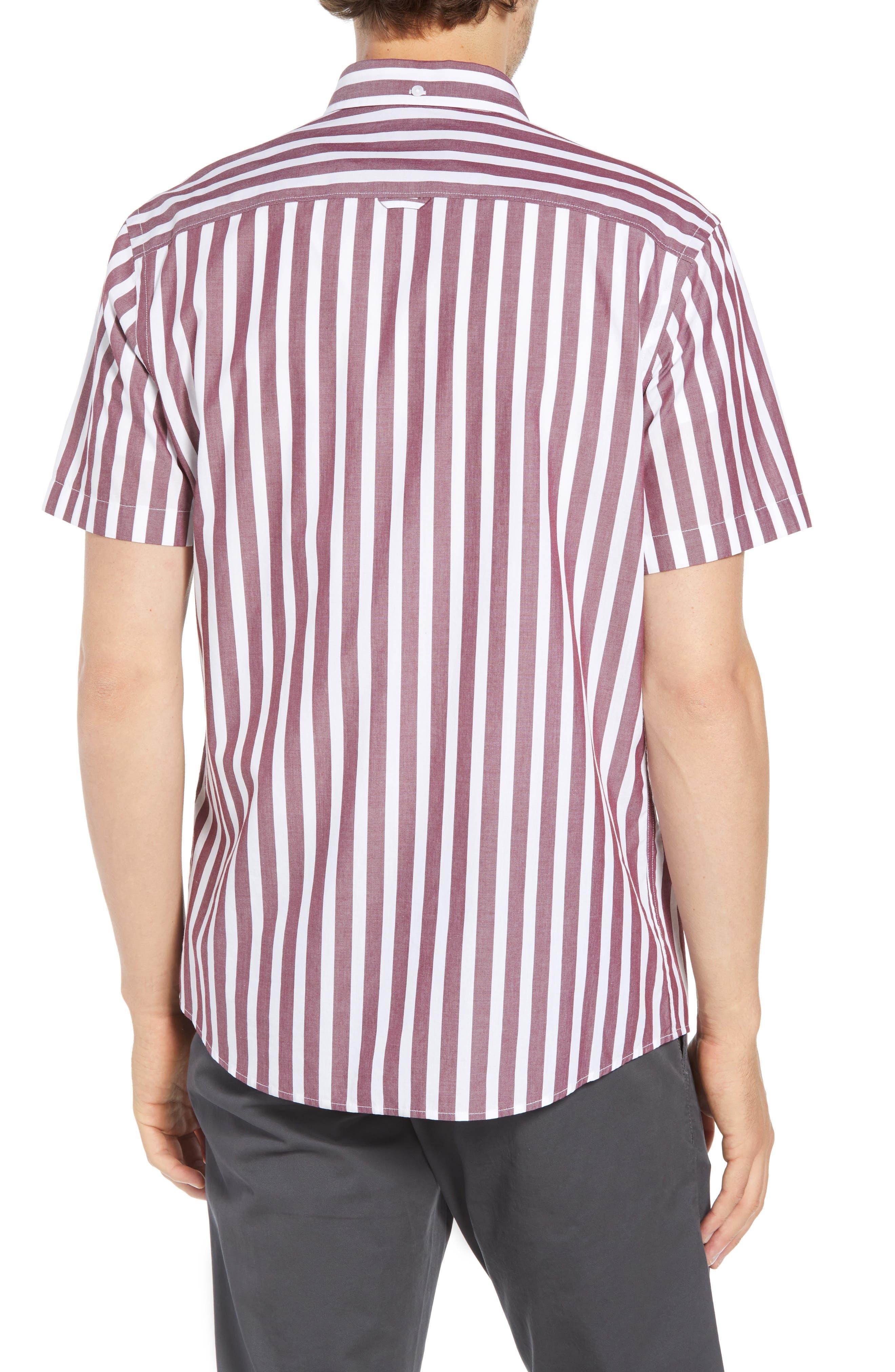 Ivy Trim Fit Stripe Sport Shirt,                             Alternate thumbnail 2, color,                             938