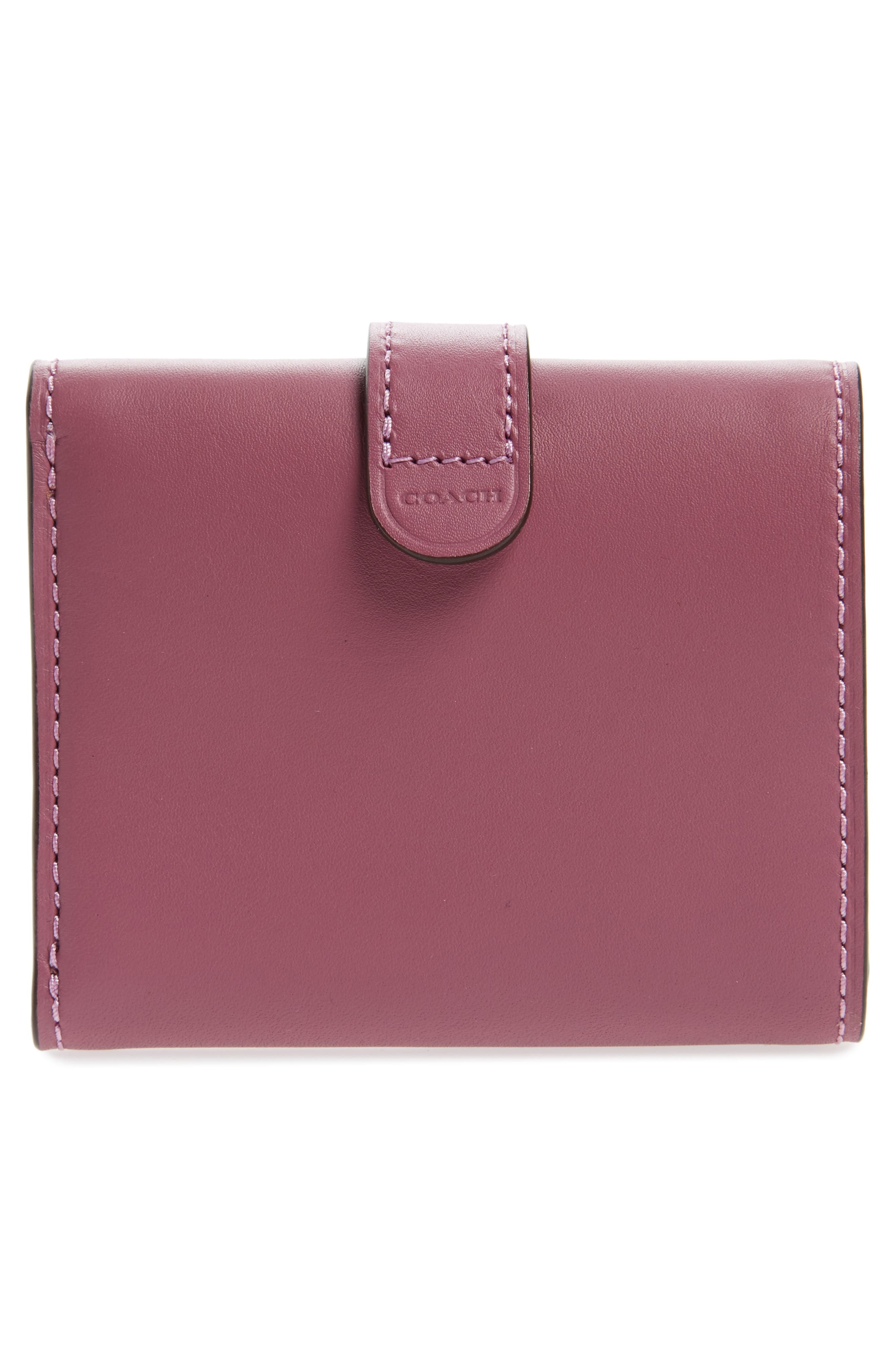 Small Leather Trifold Wallet,                             Alternate thumbnail 8, color,