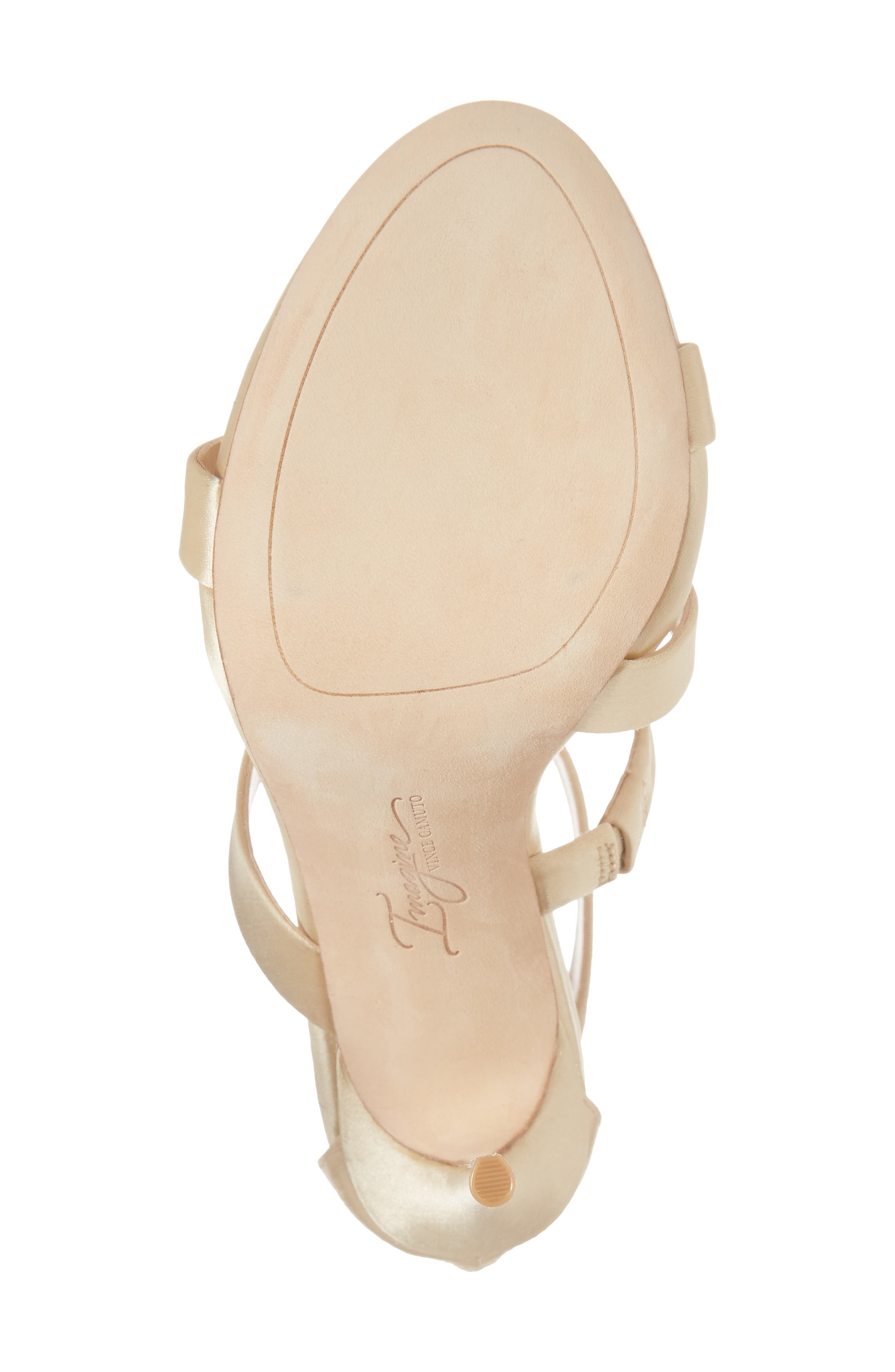 Imagine Vince Camuto Dalles Tall Strappy Sandal,                             Alternate thumbnail 6, color,                             SOFT GOLD SATIN