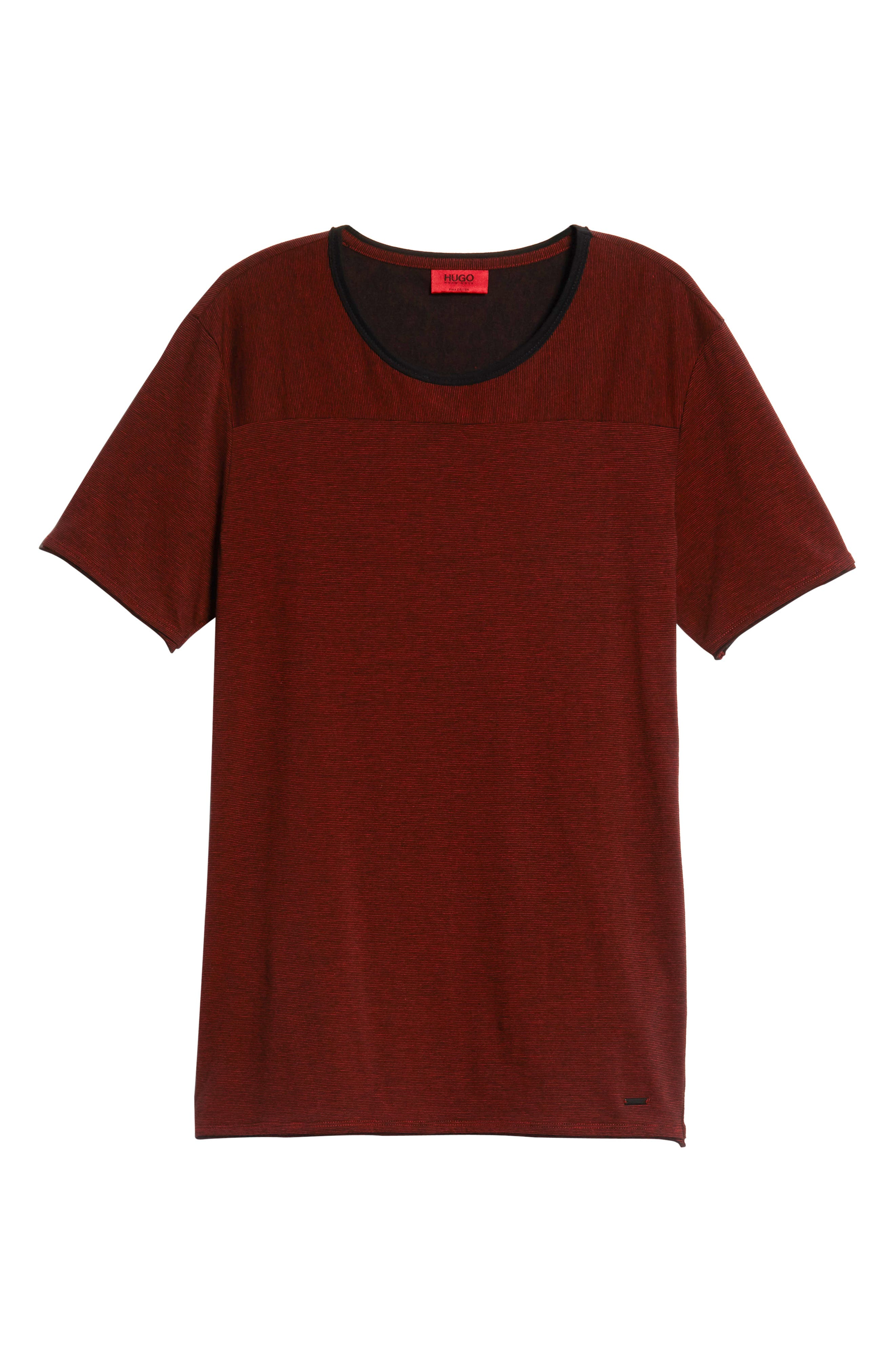 Drish Fineline Regular T-shirt,                             Alternate thumbnail 6, color,                             RED