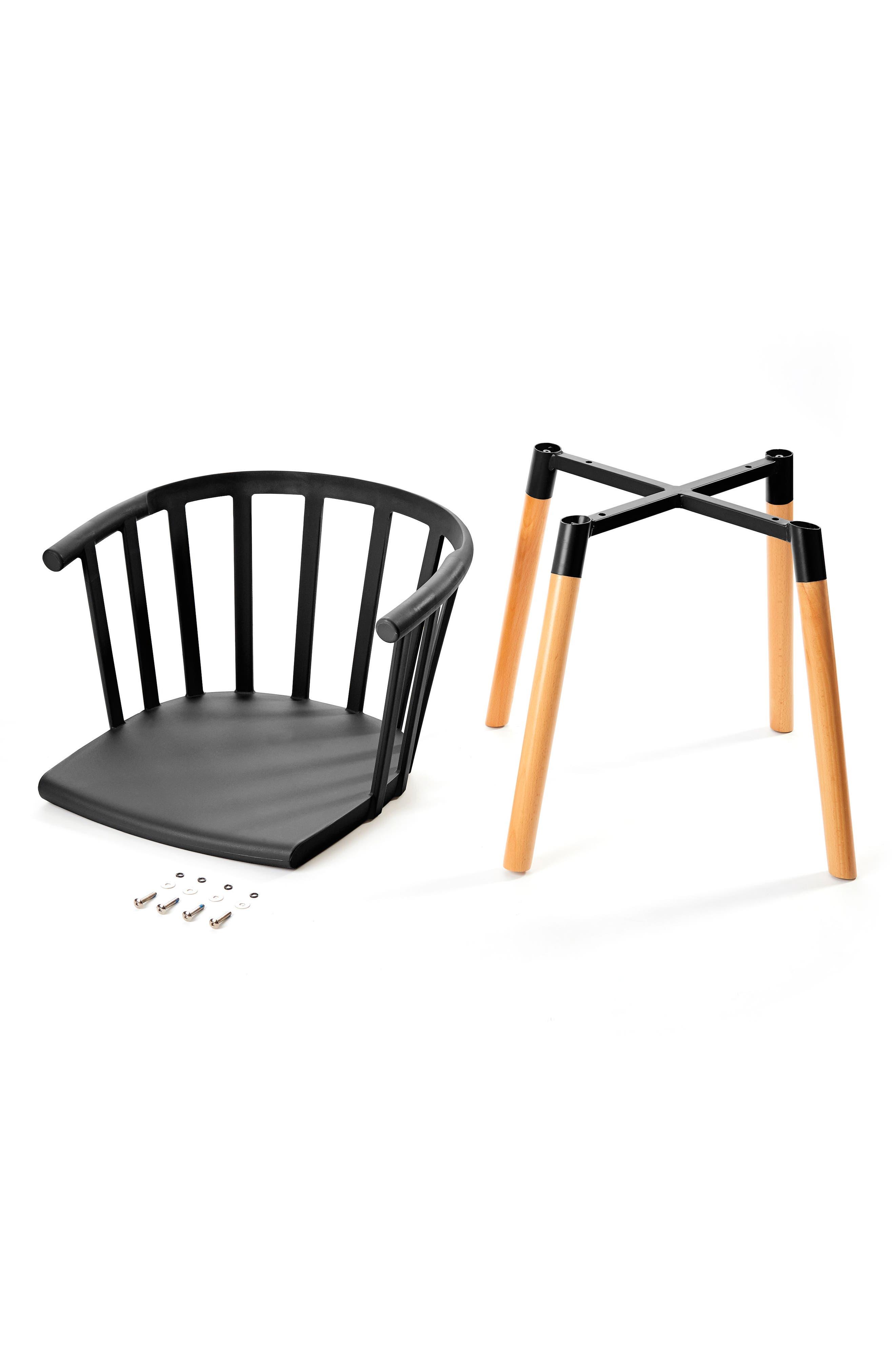 Kaptain Chair,                             Alternate thumbnail 2, color,                             MYSTERIOUS BLACK