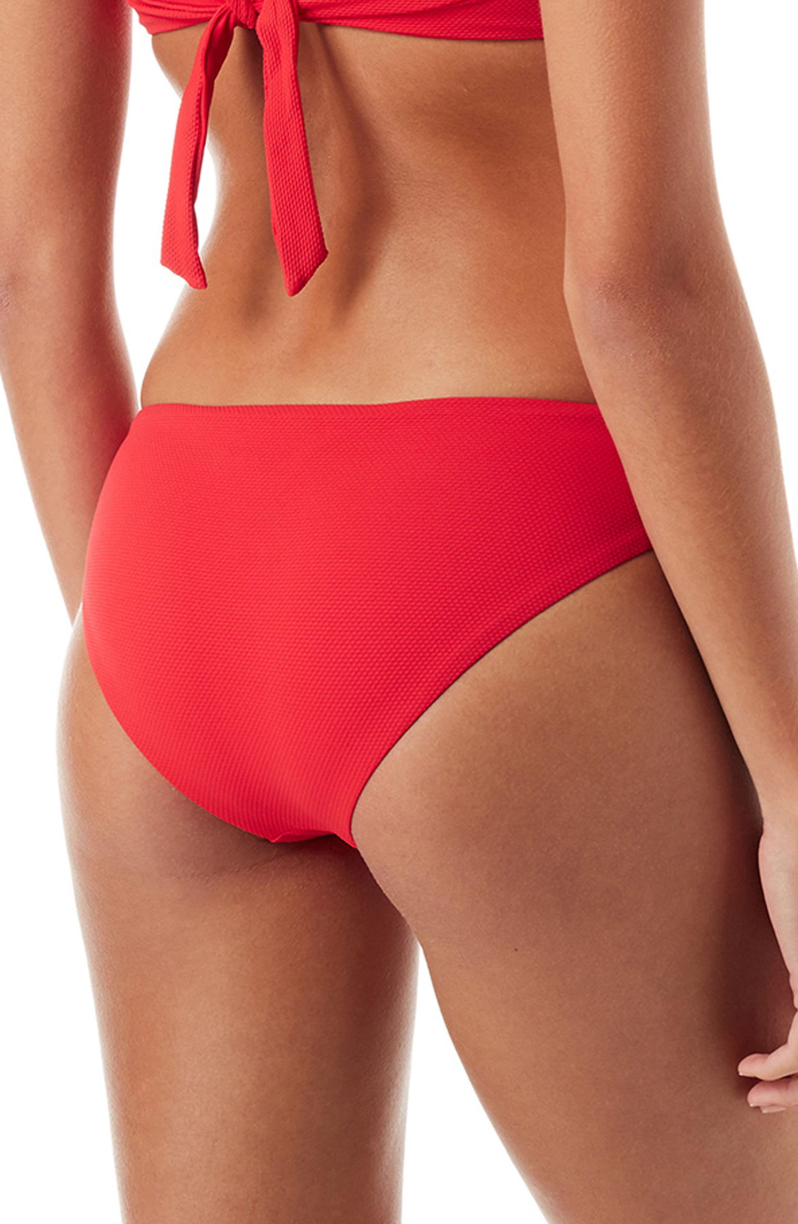Angola Bikini Bottoms,                             Alternate thumbnail 2, color,                             PIQUE RED
