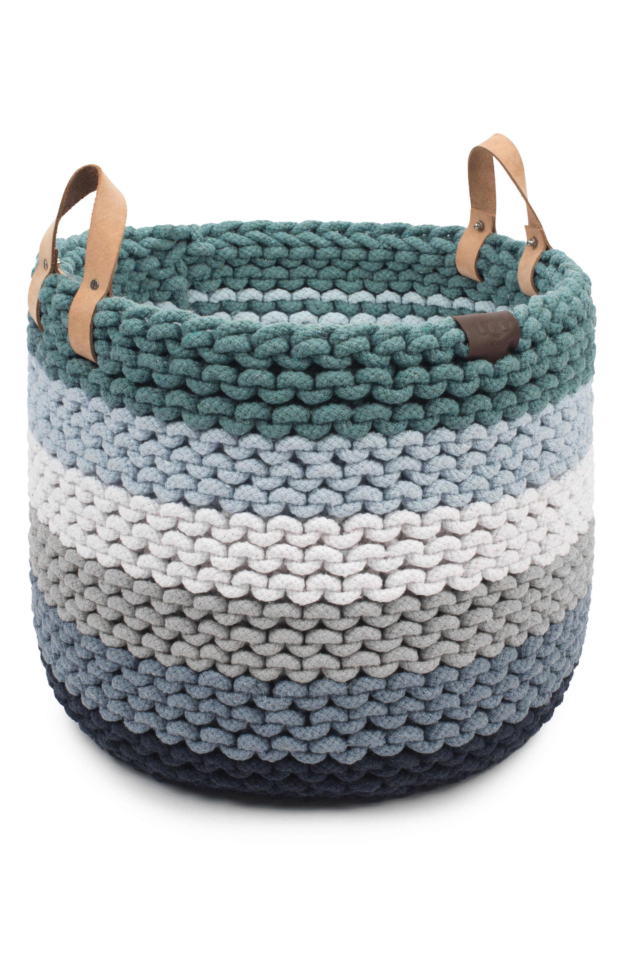 Rainbow Rope Basket,                             Main thumbnail 1, color,                             IMPERIAL