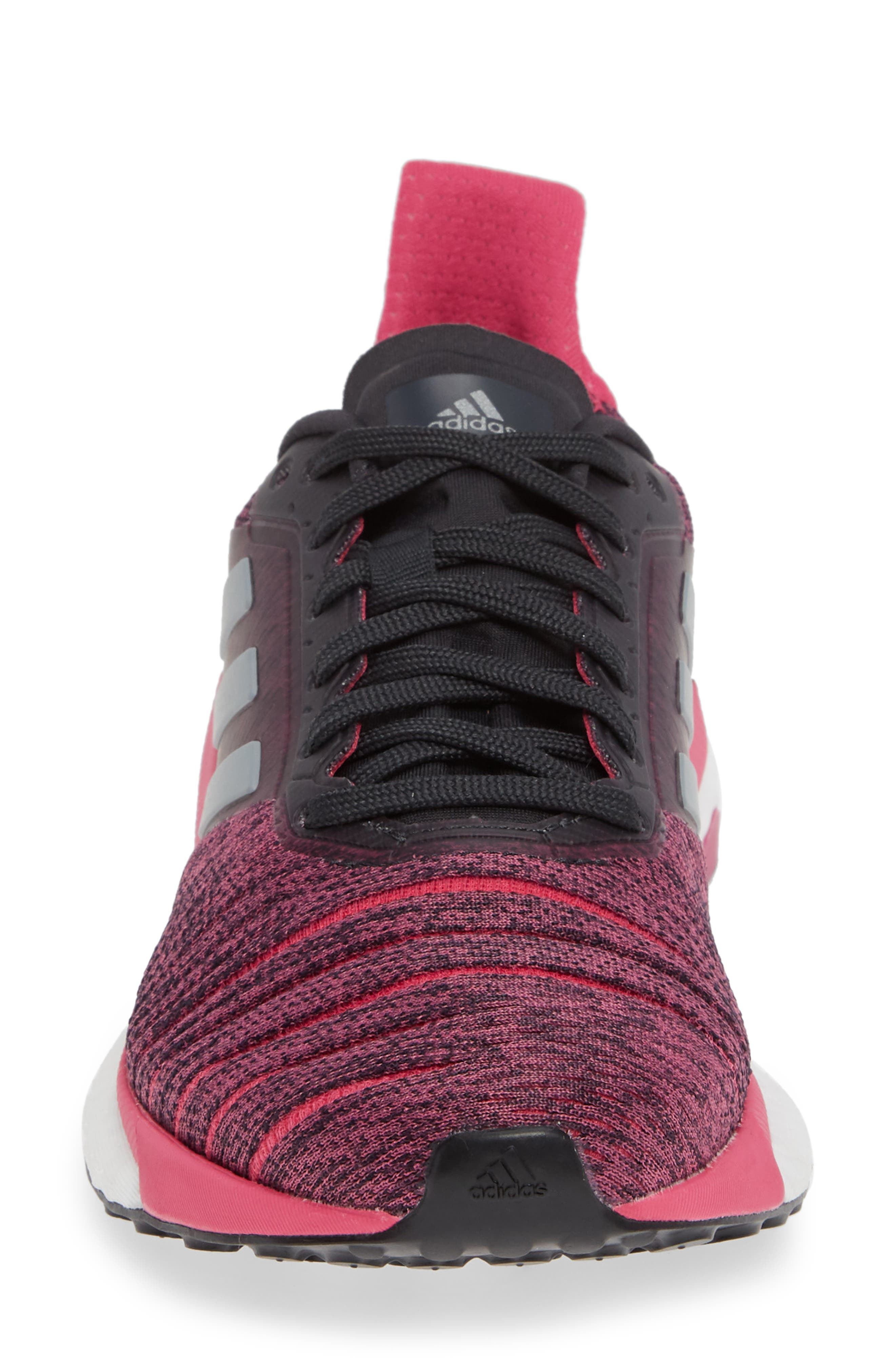 Solar Glide Running Shoe,                             Alternate thumbnail 4, color,                             CARBON/ GREY THREE/ MAGENTA