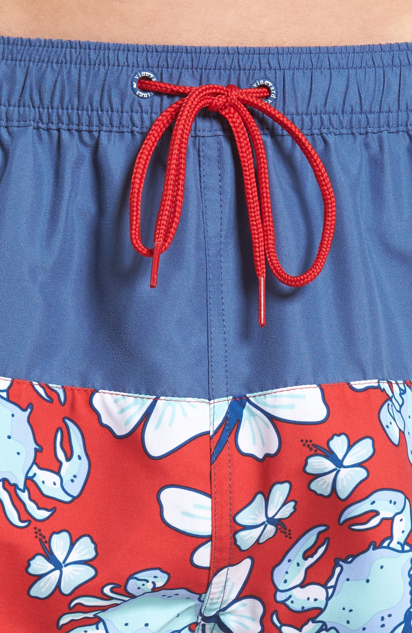 Chappy Crab Piece Swim Trunks,                             Alternate thumbnail 4, color,                             DEEP BAY