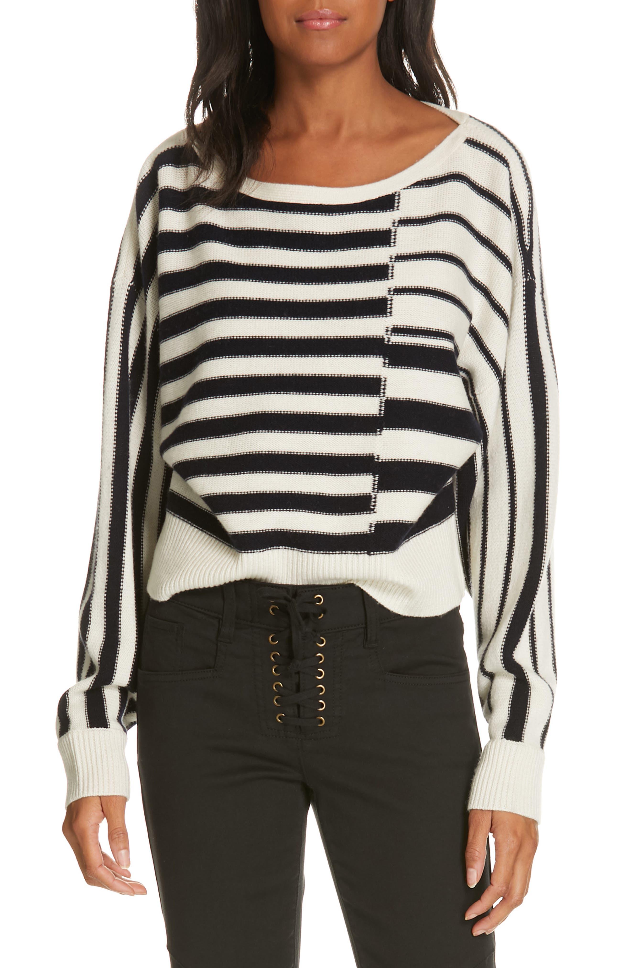 Maridel Sweater,                             Main thumbnail 1, color,                             PORCELAIN MIDNIGHT