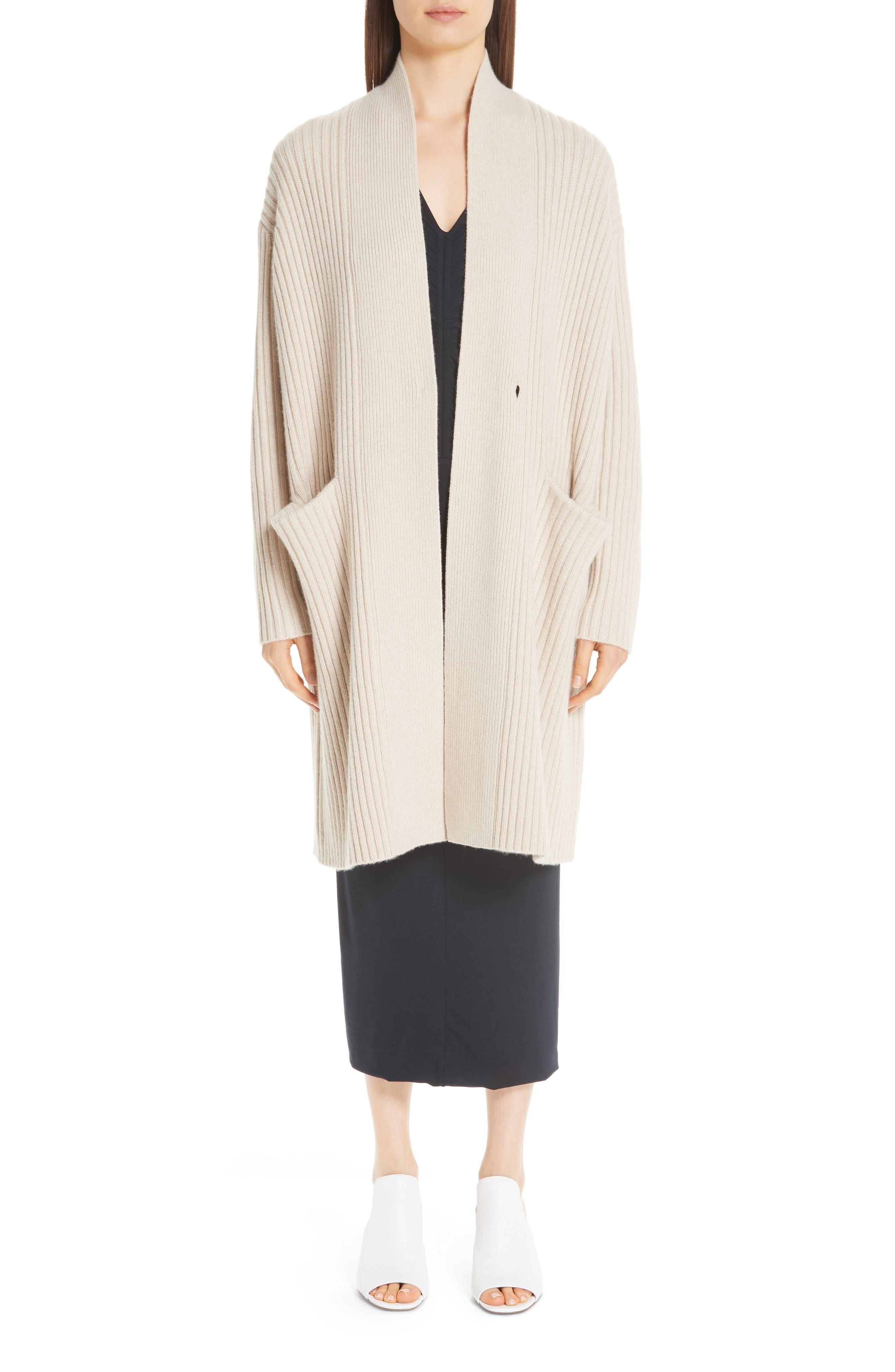 Lia Cashmere & Merino Wool Sweater, Main, color, SAND